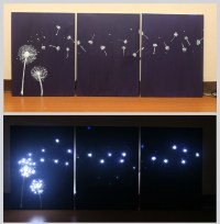 3 Ways to Design Three Panel, Light Up Dandelion Wall Art