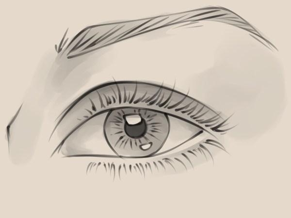 Draw Realistic Female Eye 10 Steps