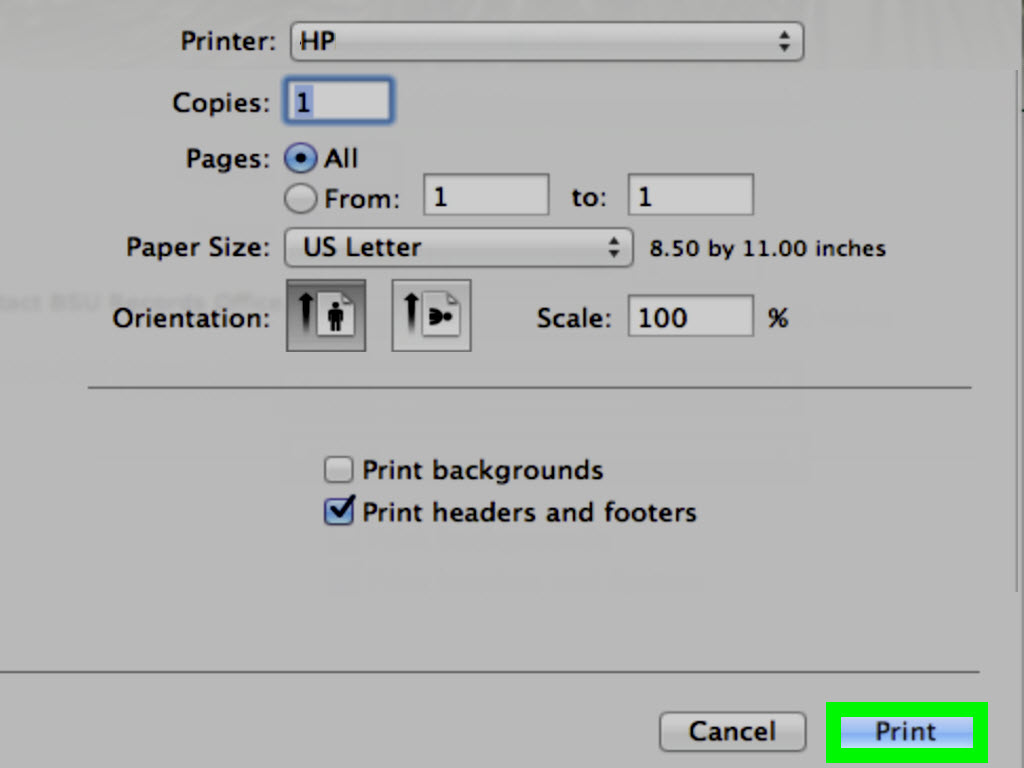 hight resolution of how to print a document