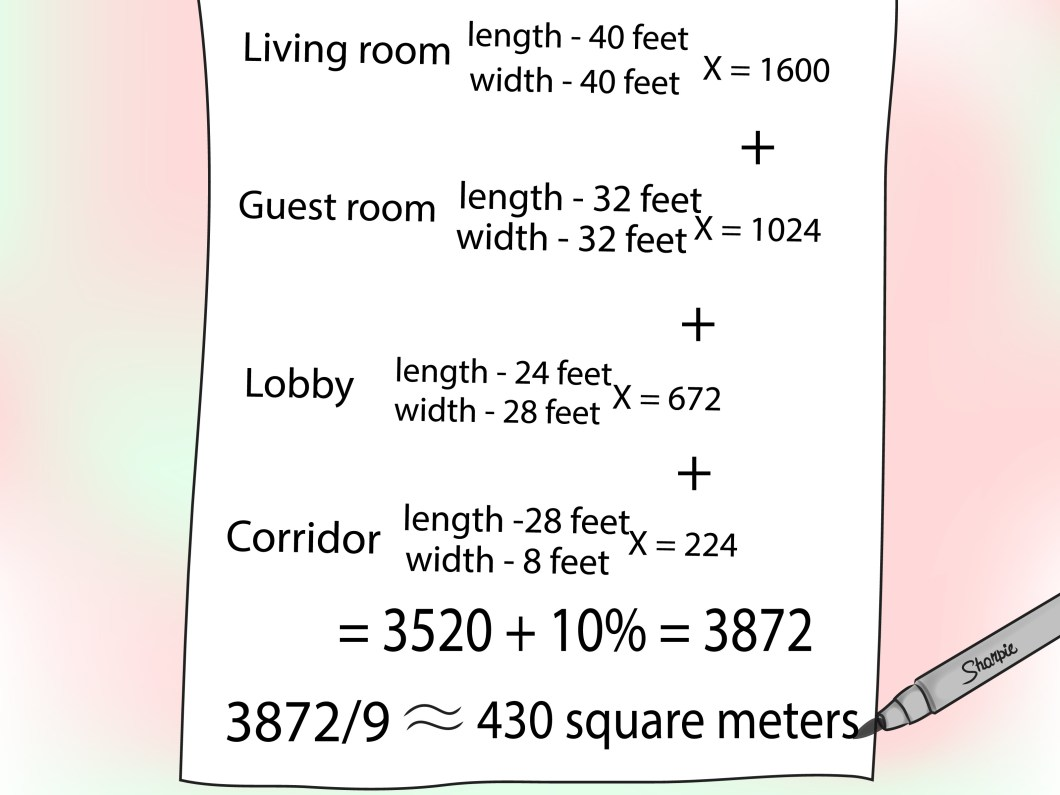 How do you measure square yards for carpet www for Calculate flooring square footage
