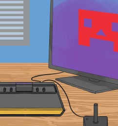 how to hook up an atari to a modern television set [ 3200 x 2400 Pixel ]