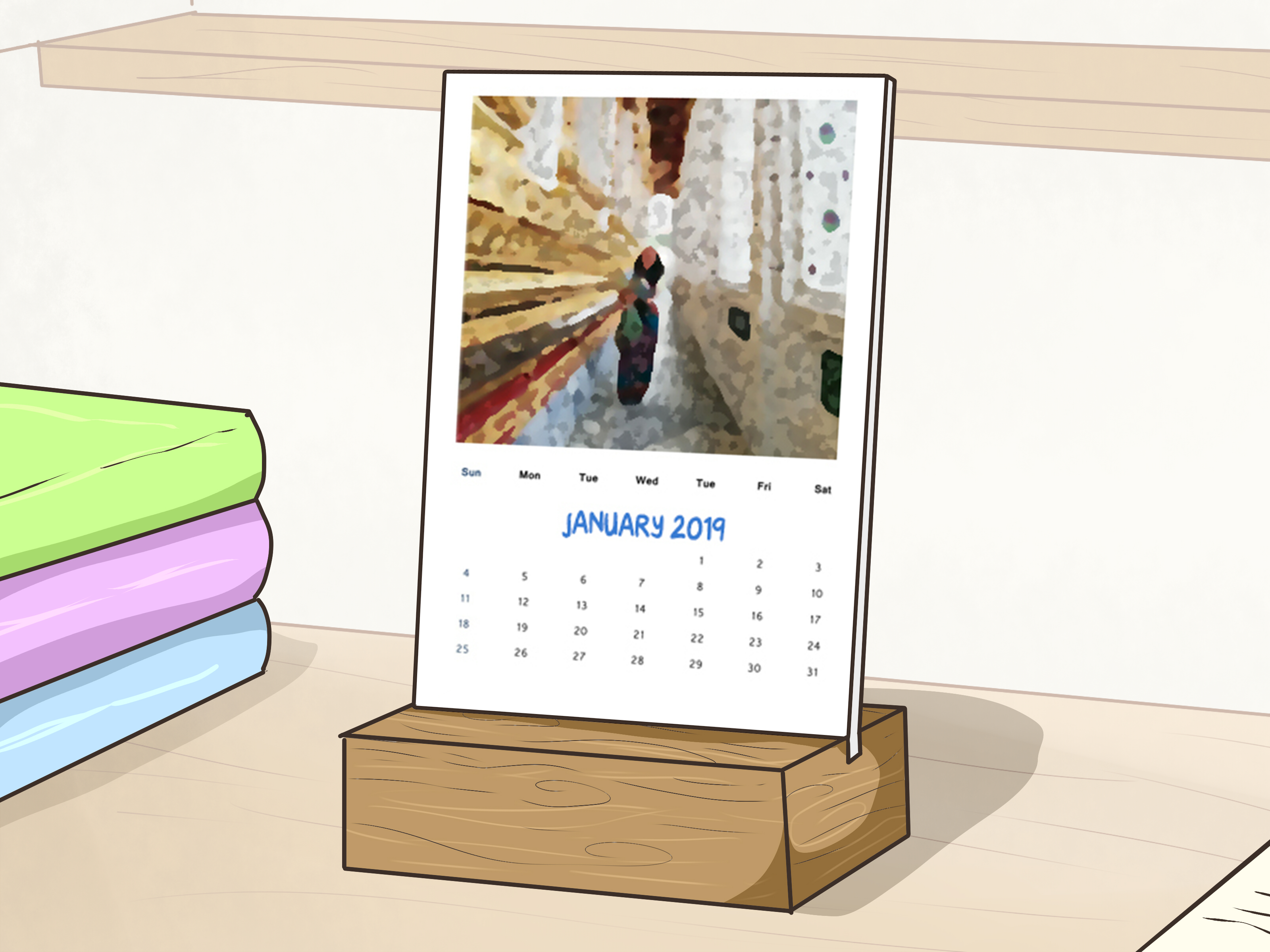 How To Make A Desk Calendar With Pictures