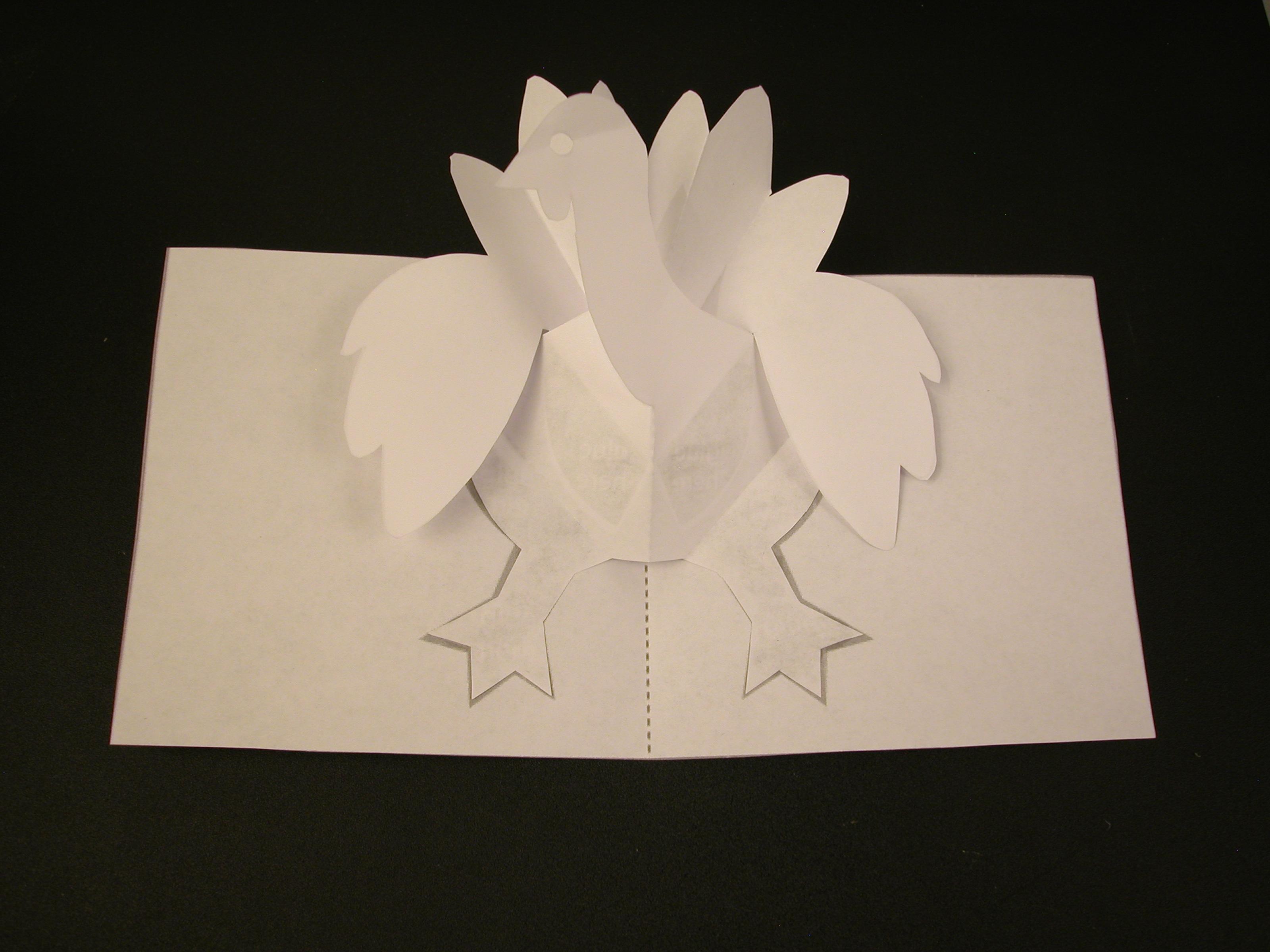 How To Make A Turkey Pop Up Card Robert Sabuda Method