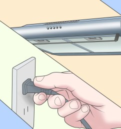 how to install a range hood 14 steps with pictures wikihow installing a kitchen hood wiring a kitchen hood [ 3200 x 2400 Pixel ]
