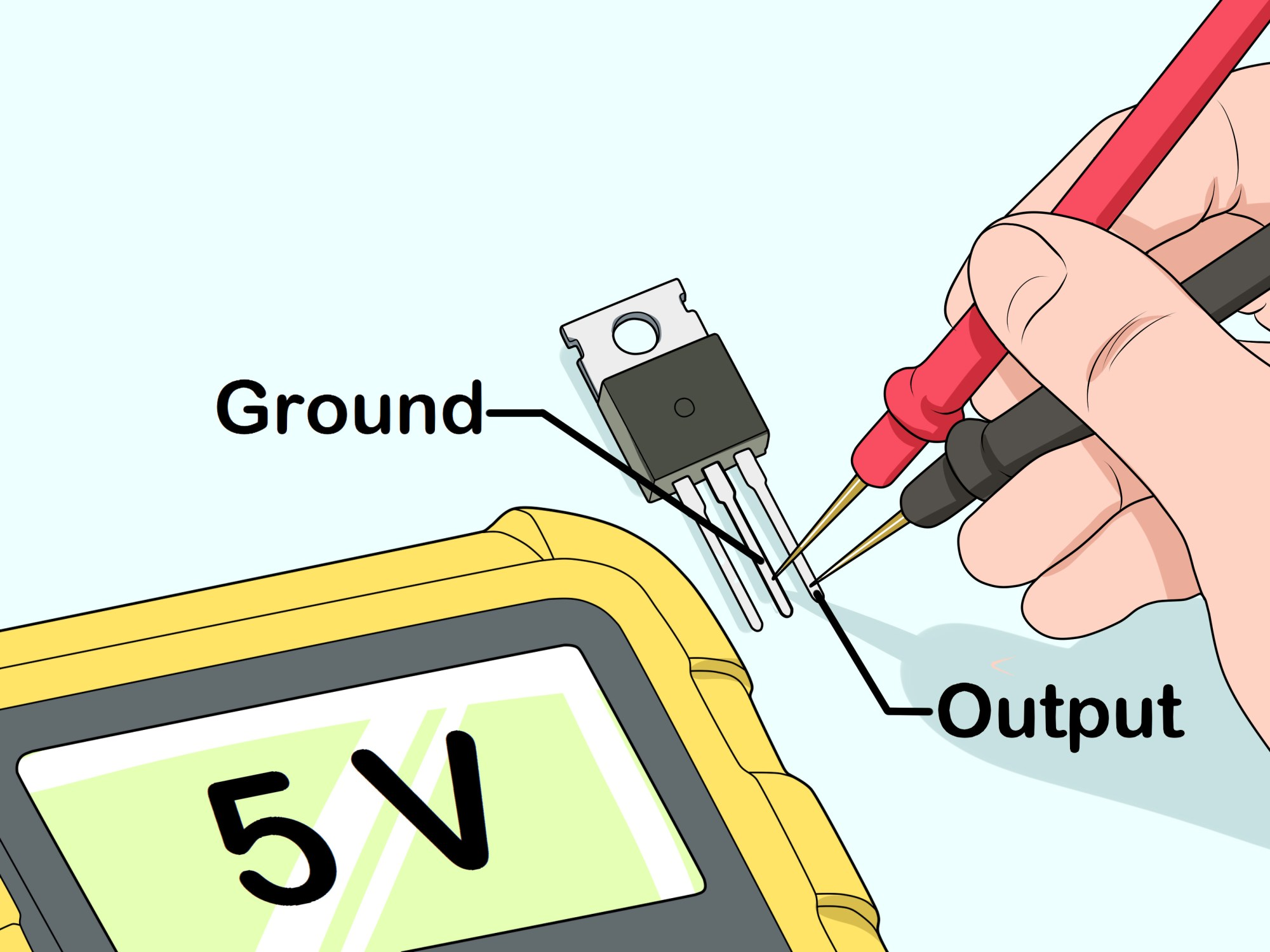 hight resolution of how to test a voltage regulator