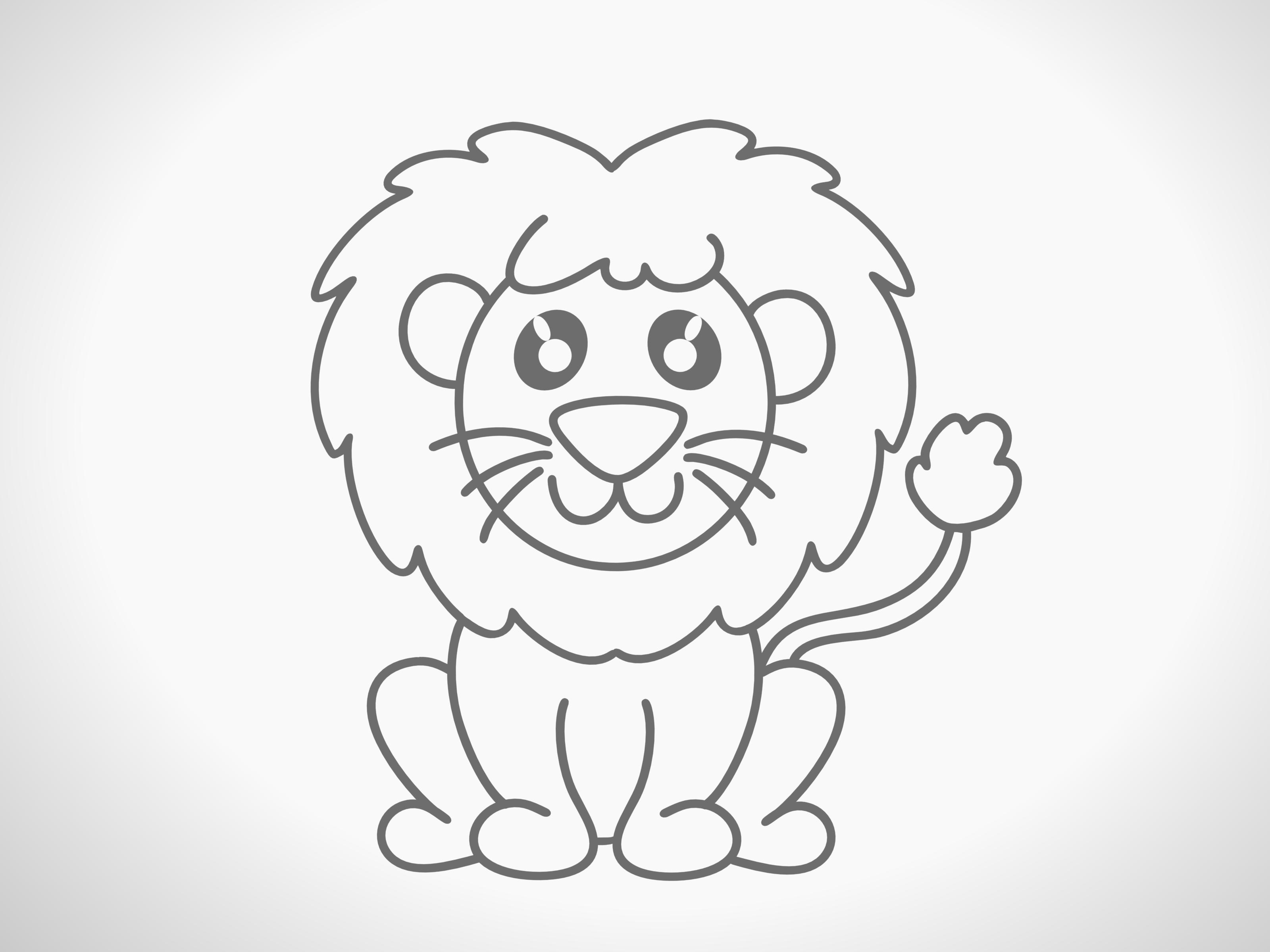 How To Draw A Lion With Pictures