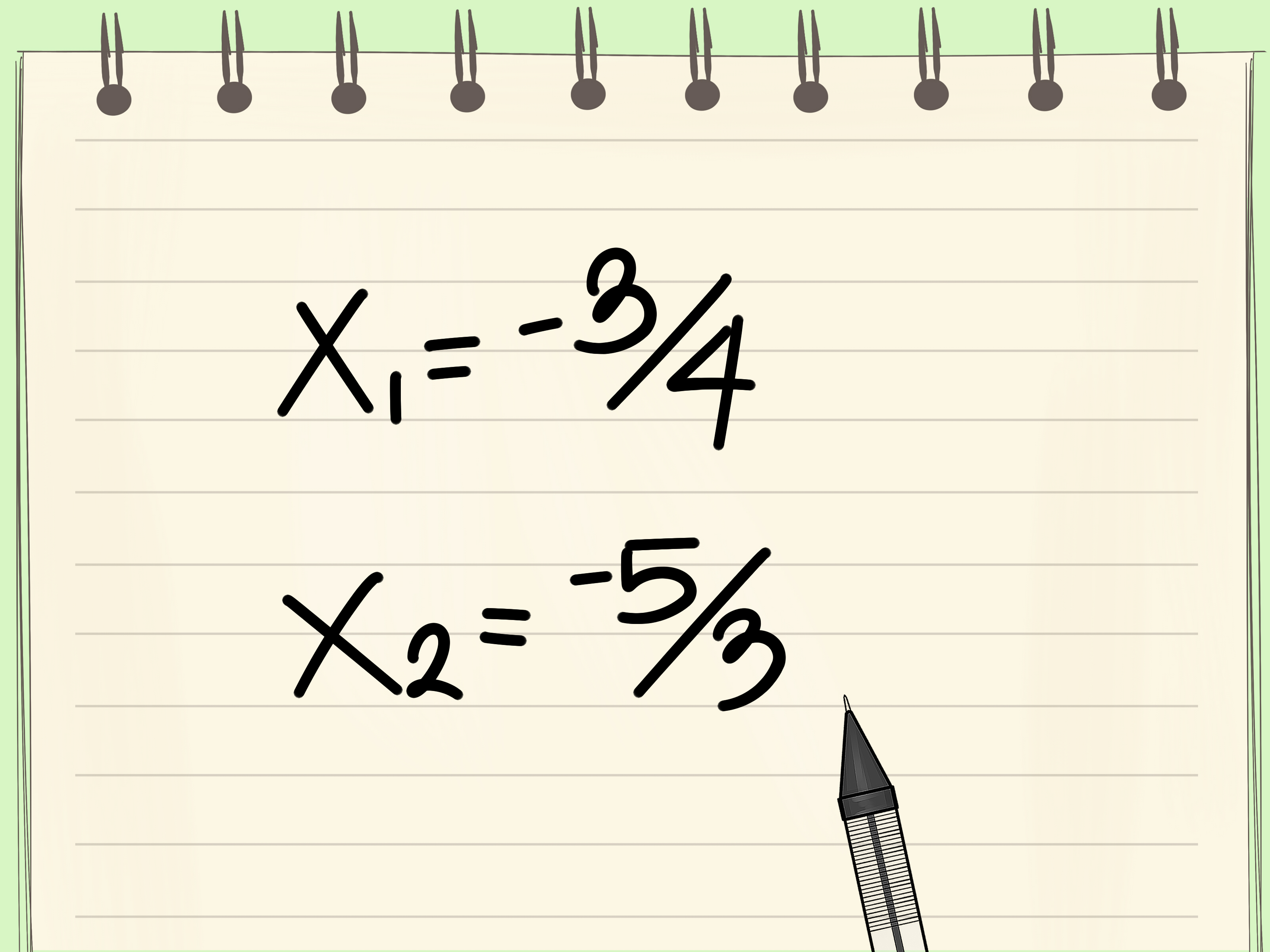 Solve The Quadratic Equation Using Any Method
