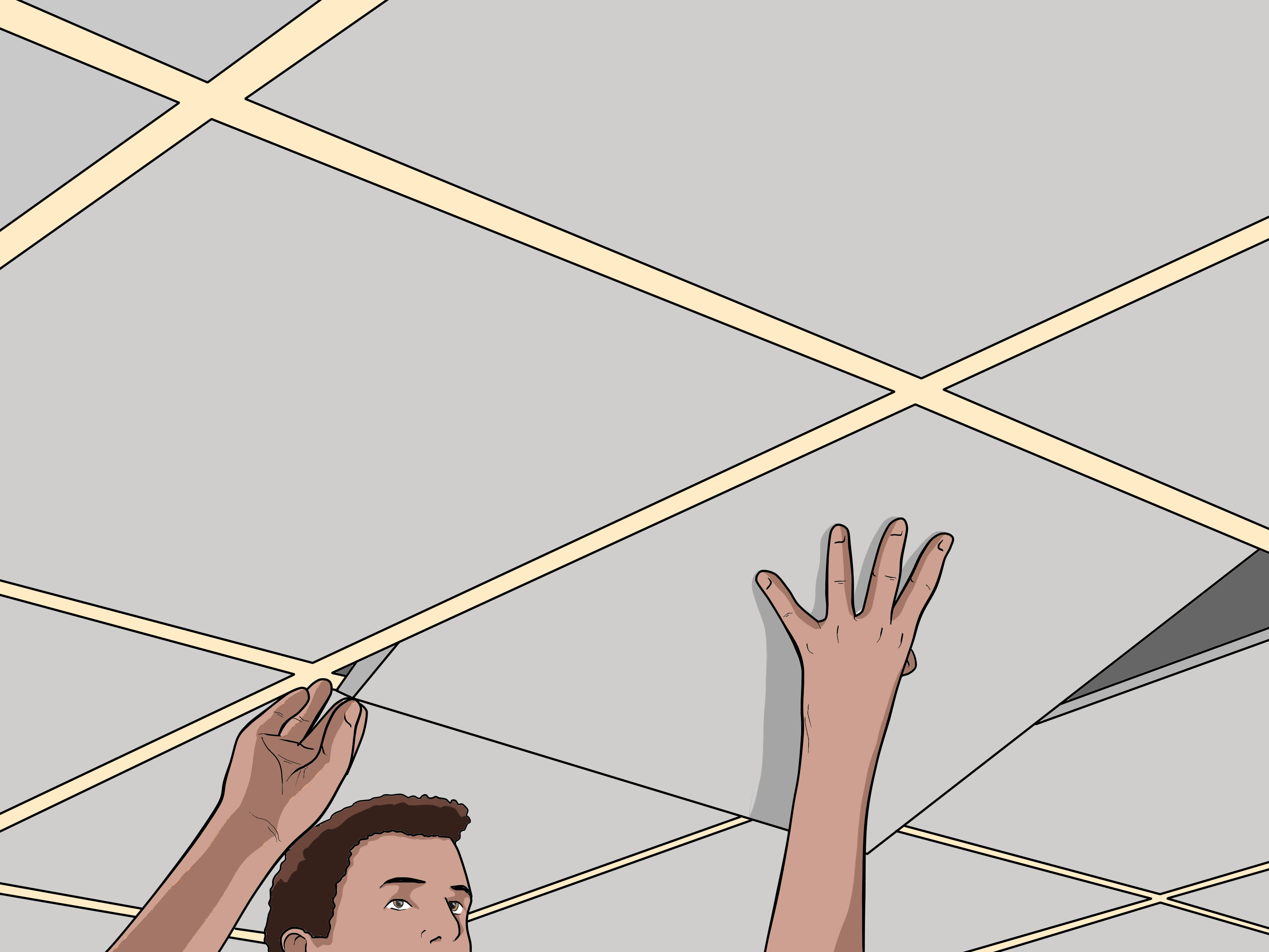 how to remove a ceiling tile 7 steps