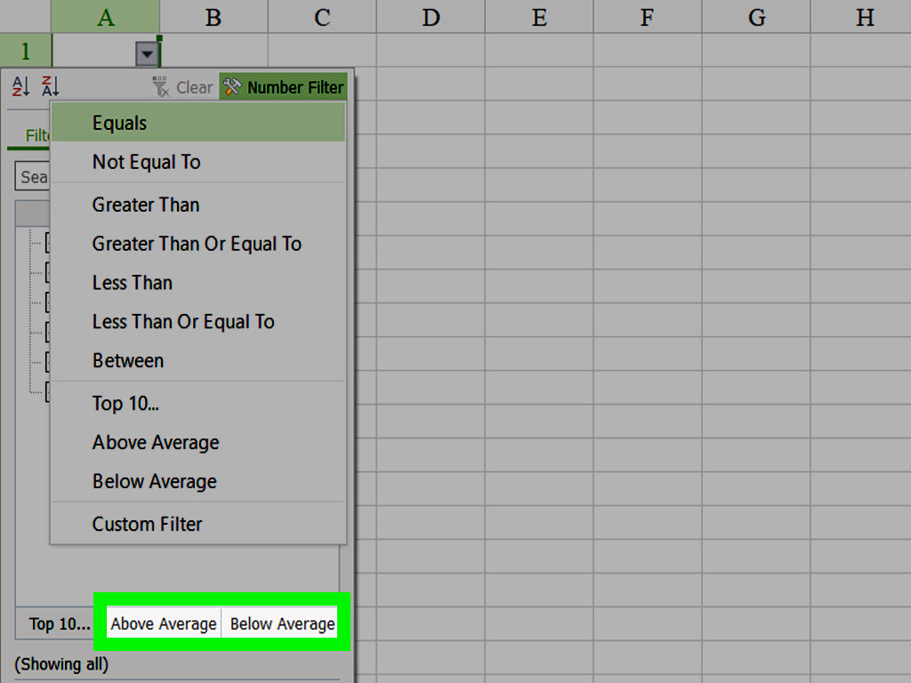 How To Use Number Filter In Worksheet With Kingsoft Spreadsheets