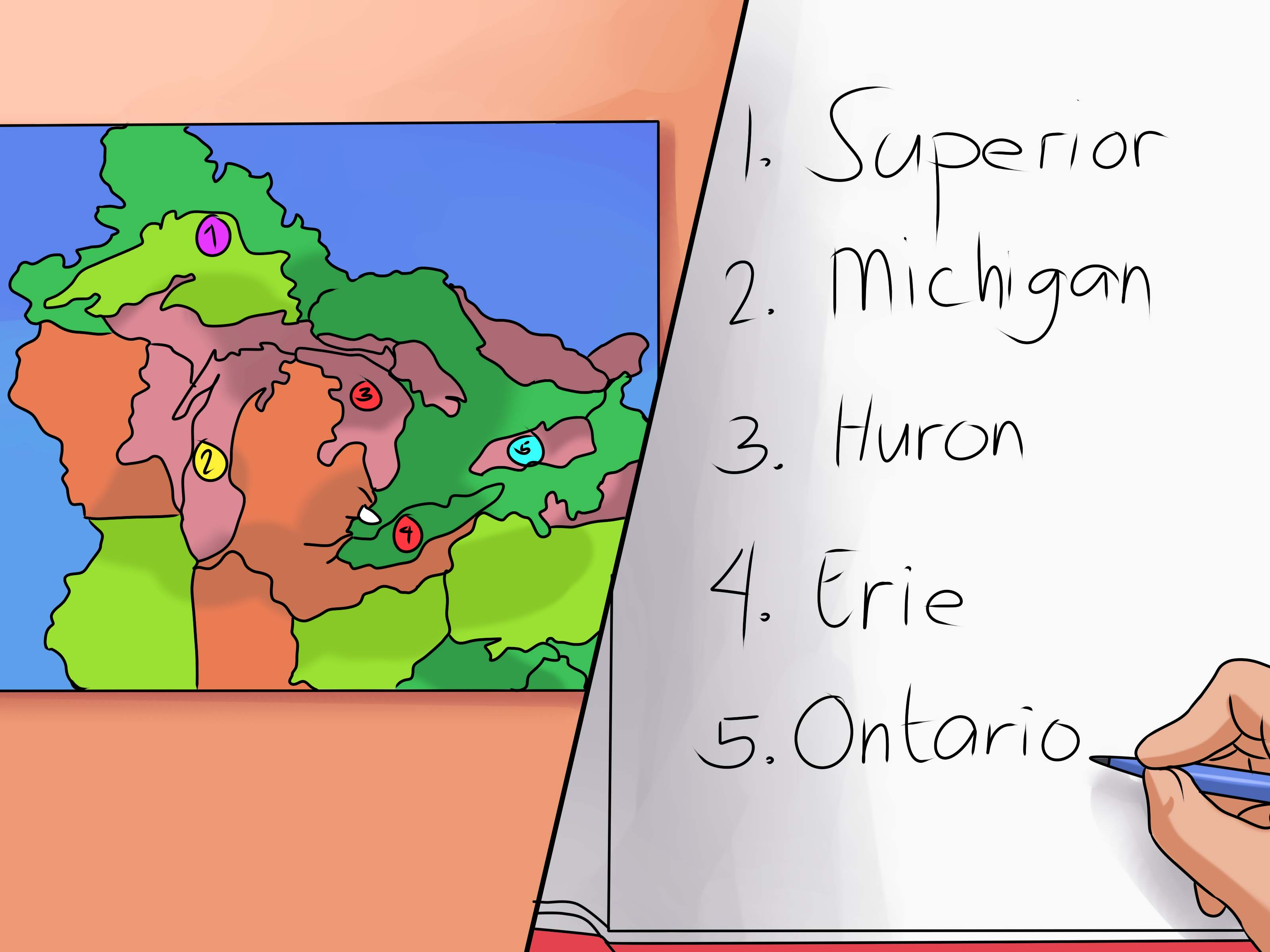 2 Simple Ways To Remember The Five Great Lakes