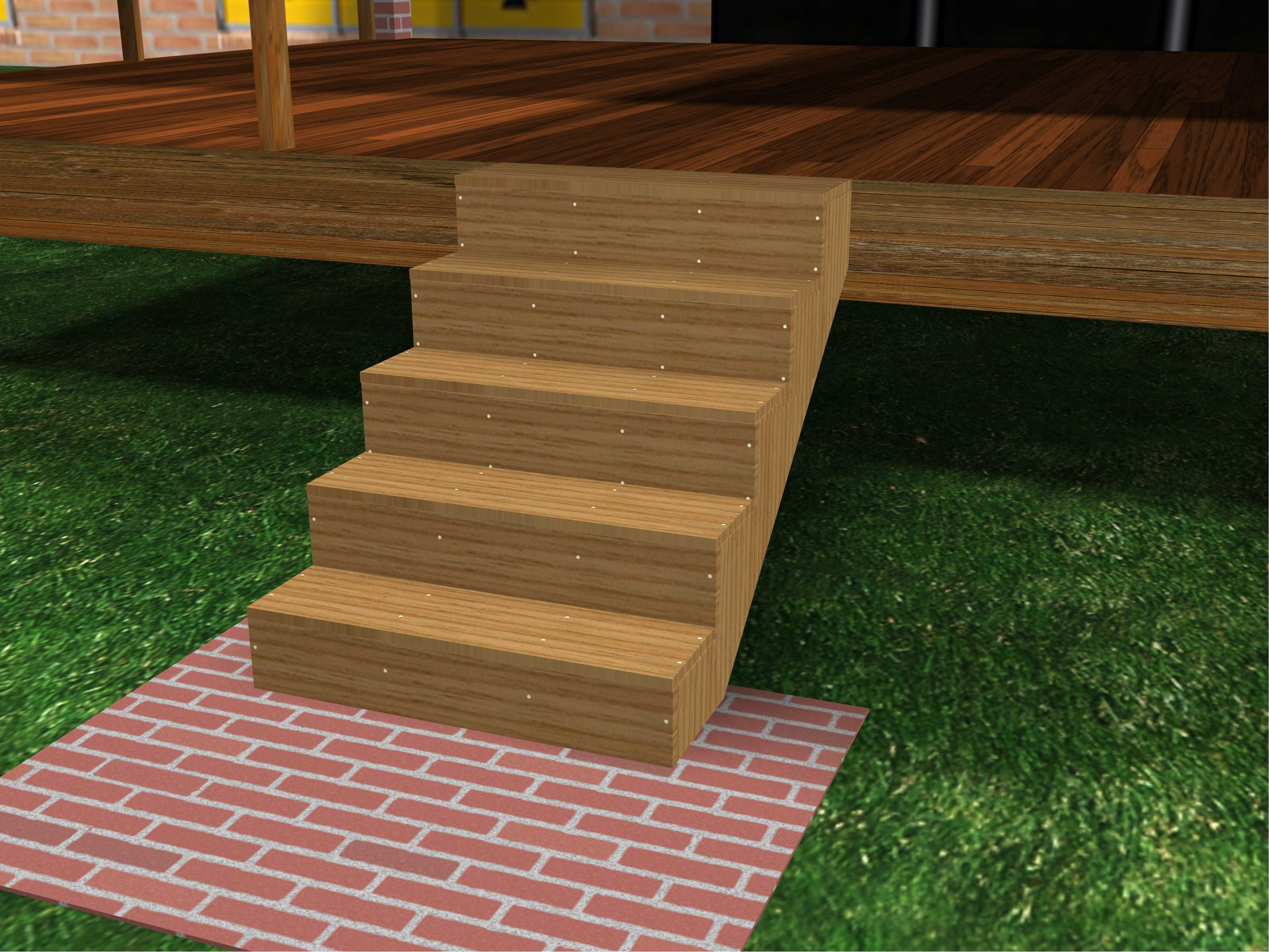 How To Build Porch Steps 13 Steps With Pictures Wikihow | Pre Built Outdoor Steps | Exit | Premade | Prefabricated | 4 Step Deck | Residential Outdoor Metal