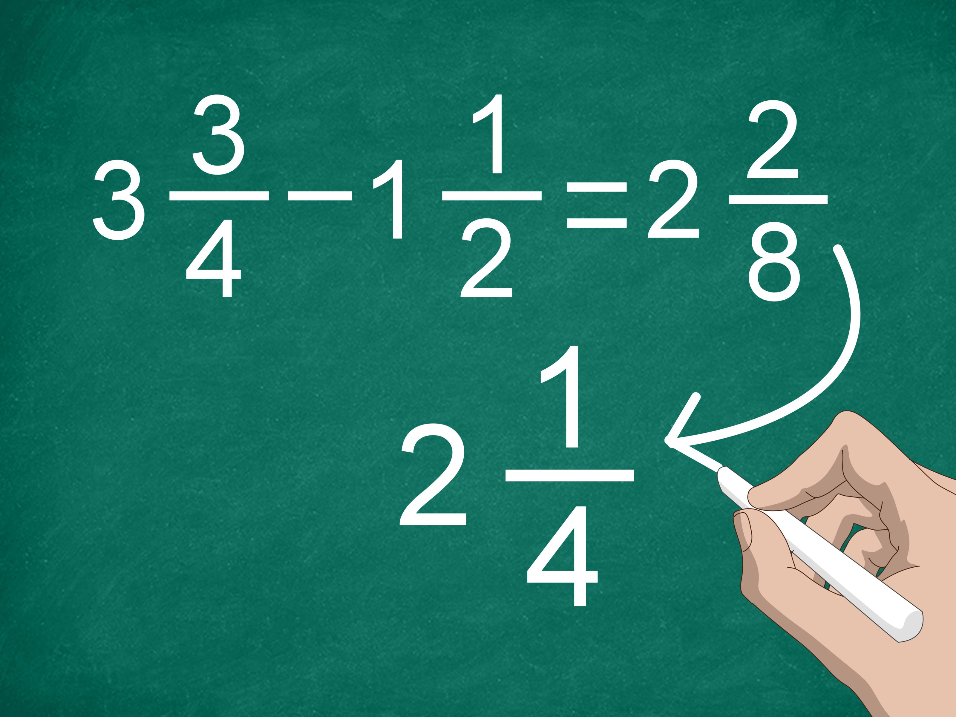 3 Ways To Subtract Mixed Numbers