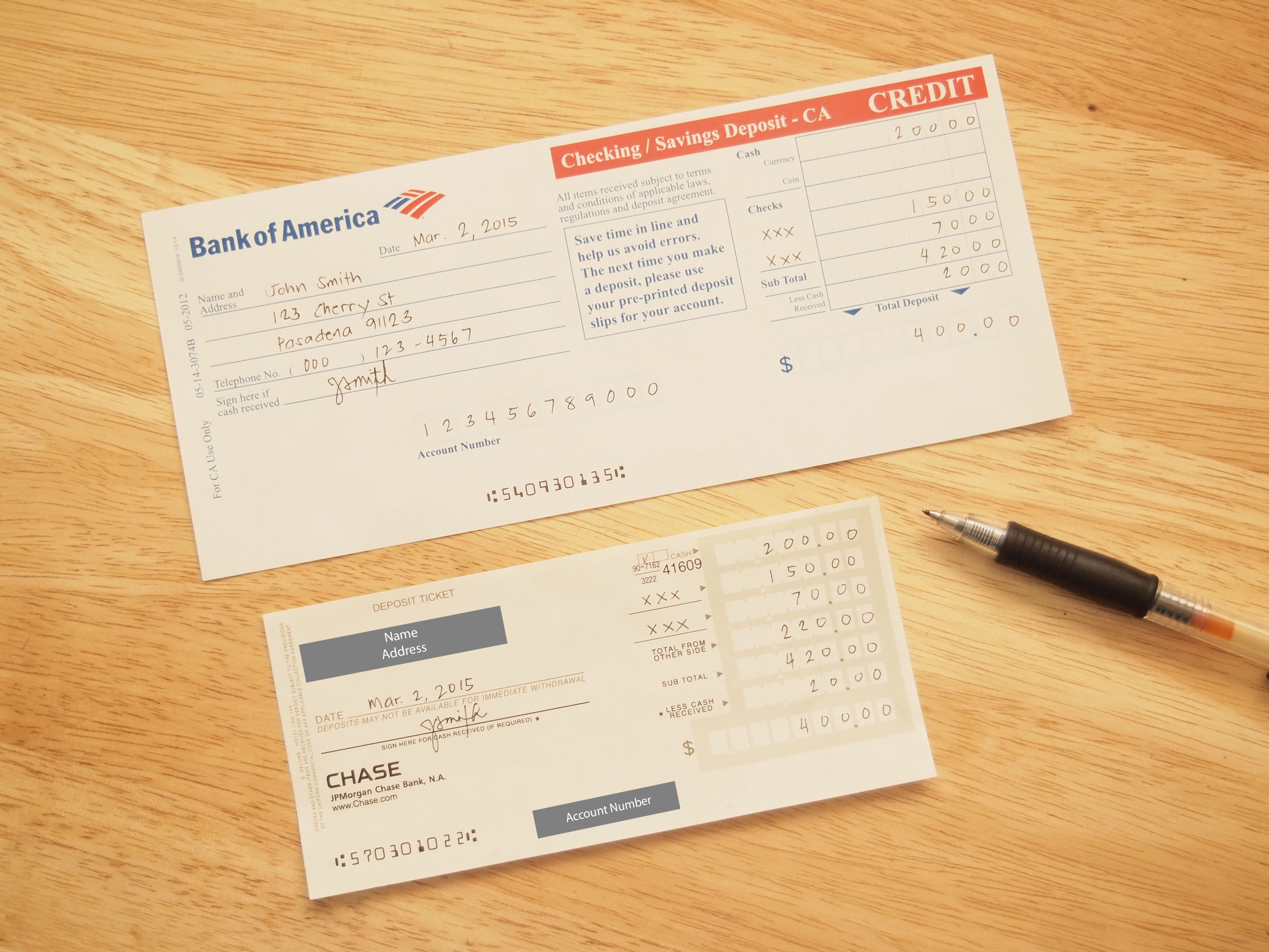How To Fill Out A Checking Deposit Slip 12 Steps With Pictures