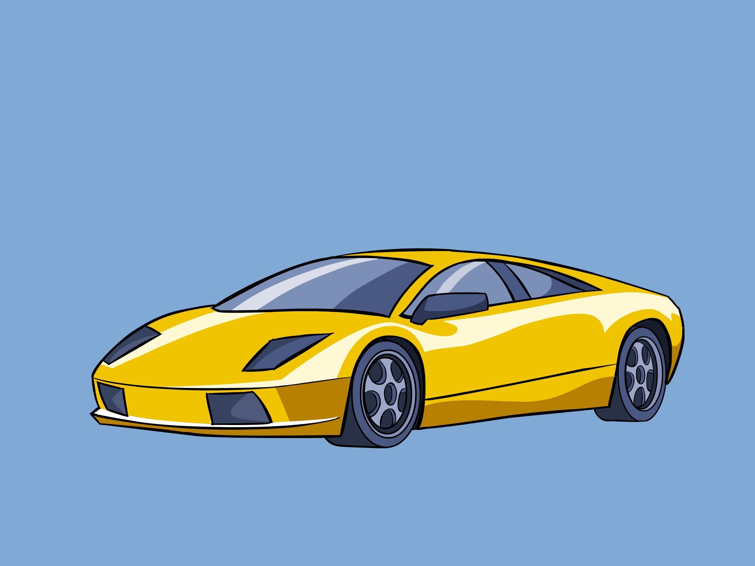 Come Disegnare una Lamborghini 28 Passaggi