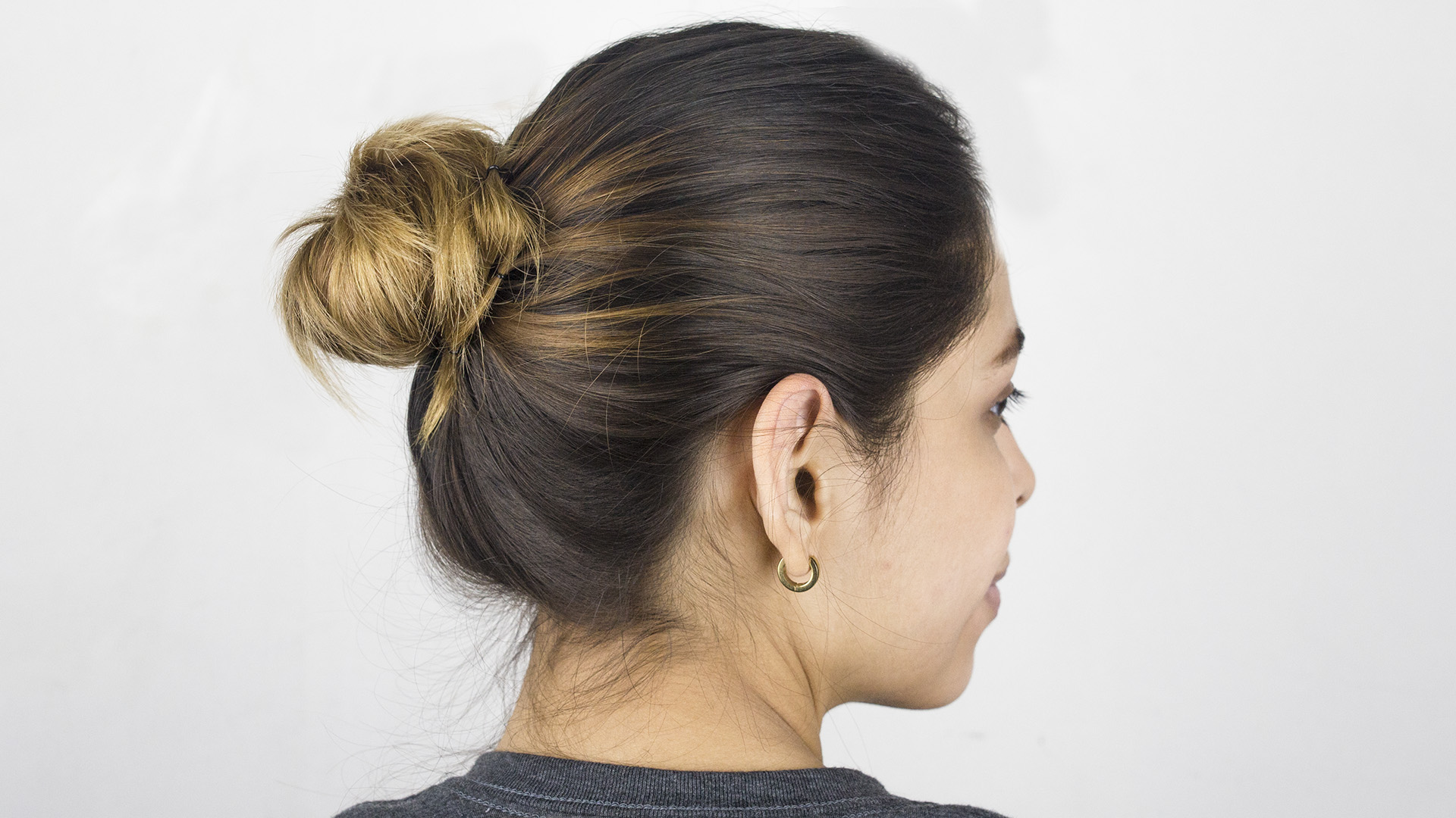 How to Make a Simple Bun in Hair 9 Steps with Pictures