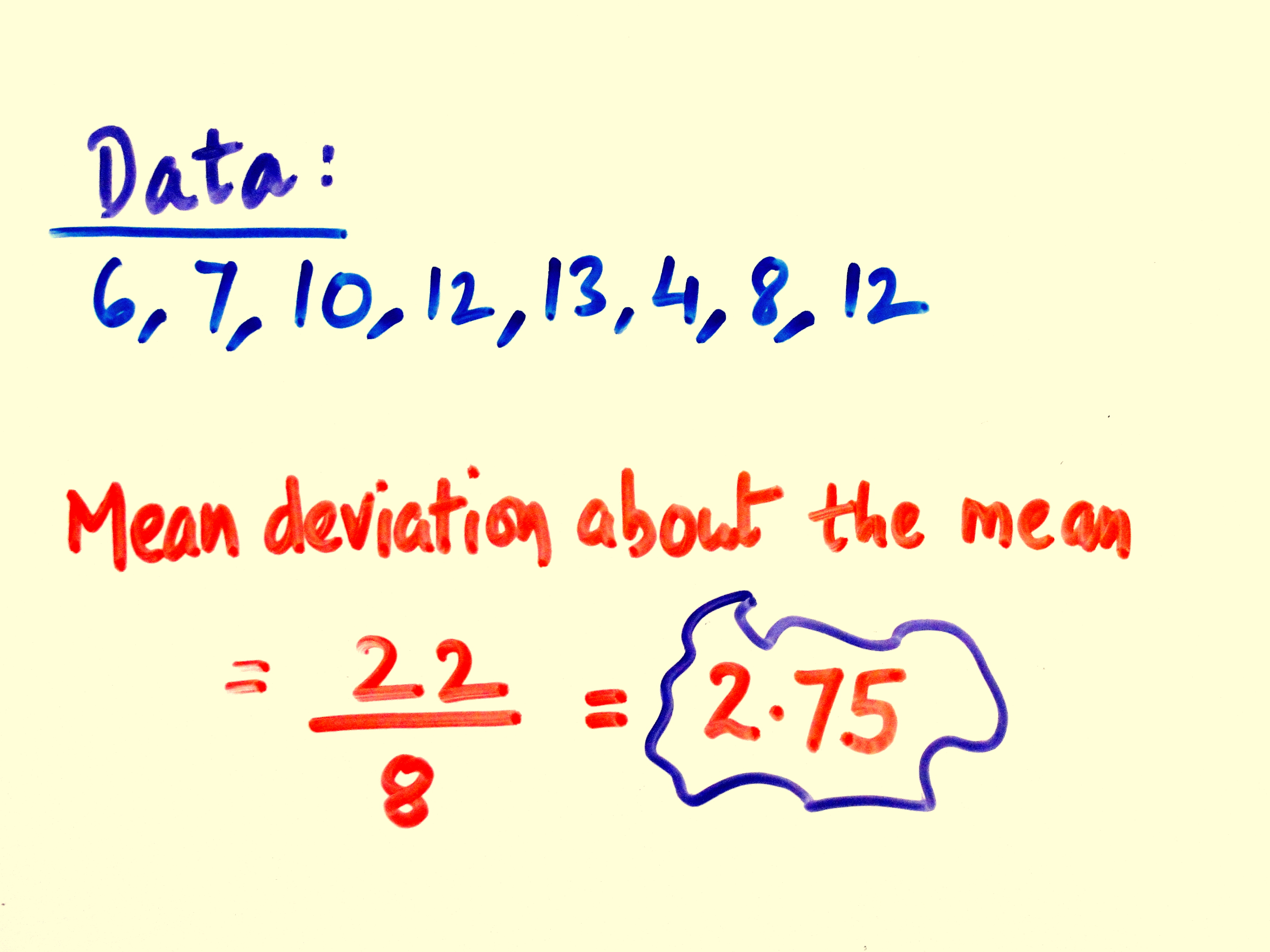How To Calculate Mean Deviation About Mean For Ungrouped
