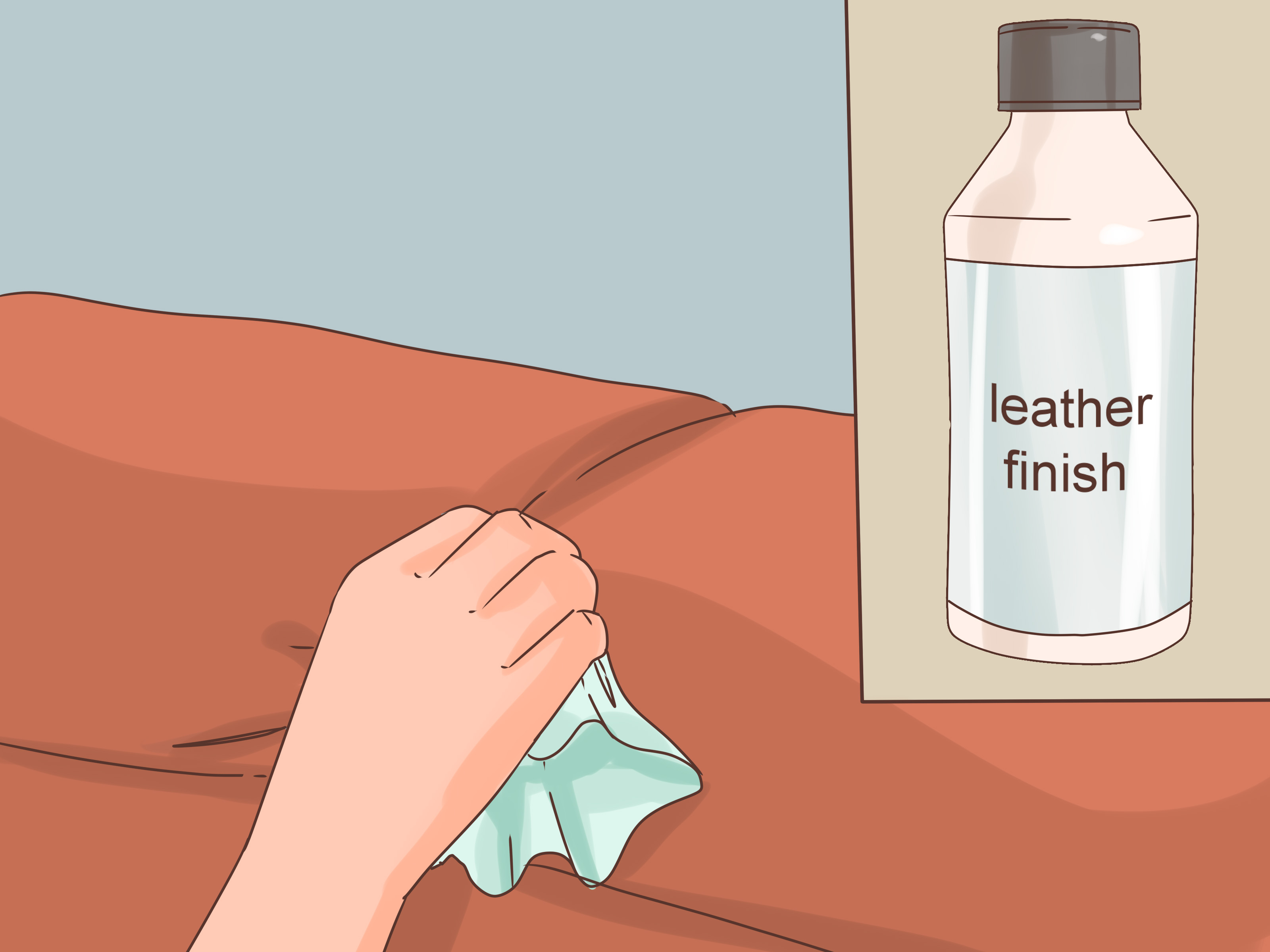how do i repair a tear in leather sofa italian modern white to patch couch with pictures wikihow