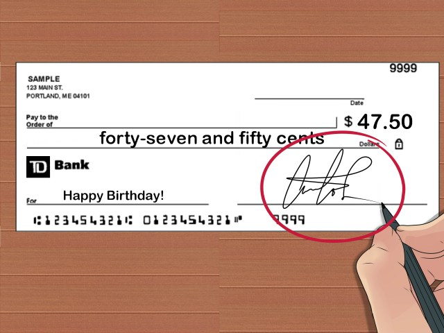 How to Write a Check With Cents: 27 Steps (with Pictures)