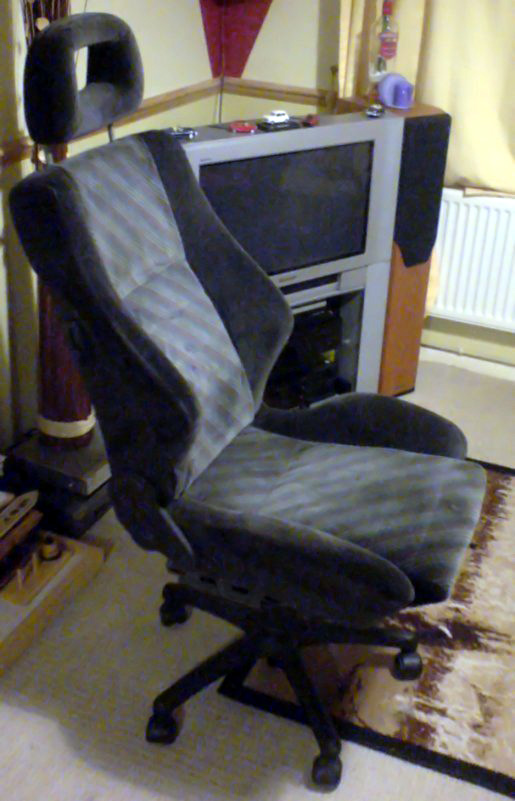 swivel chair for car wing back accent how to make a desk from seat (with pictures) - wikihow