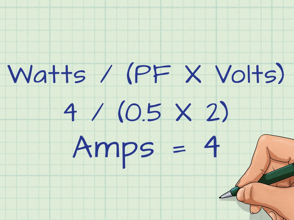 medium resolution of how to convert watts to amps