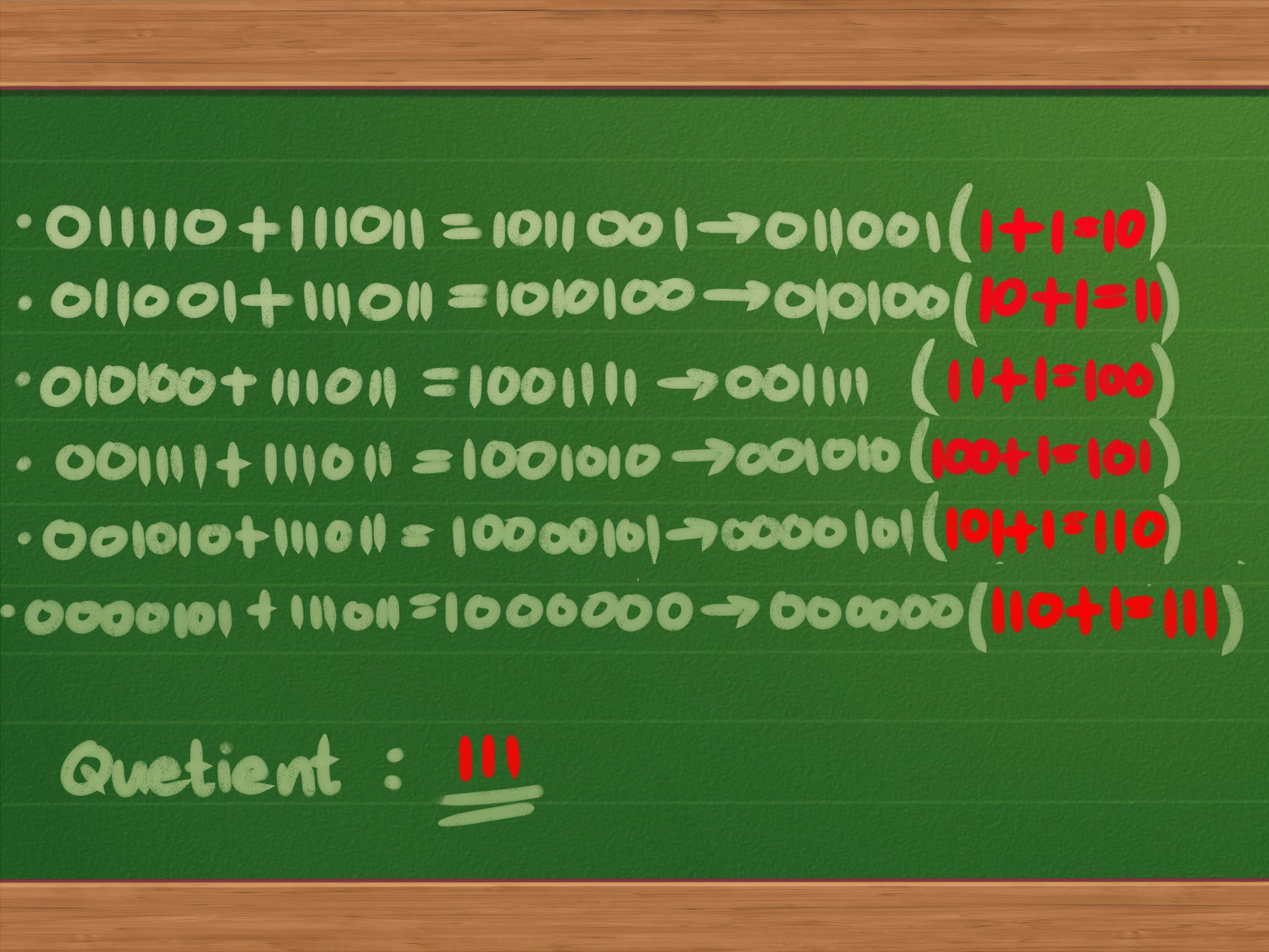 How To Divide Binary Numbers 13 Steps With Pictures