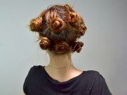 curl hair with bobby pins
