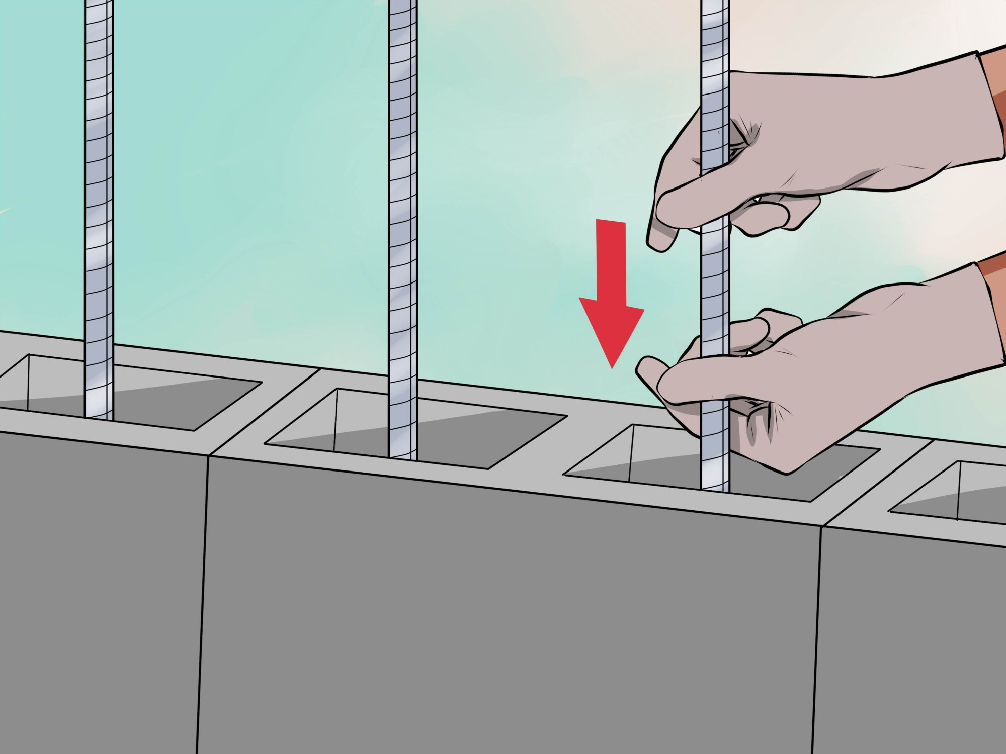 hight resolution of how to lay concrete blocks