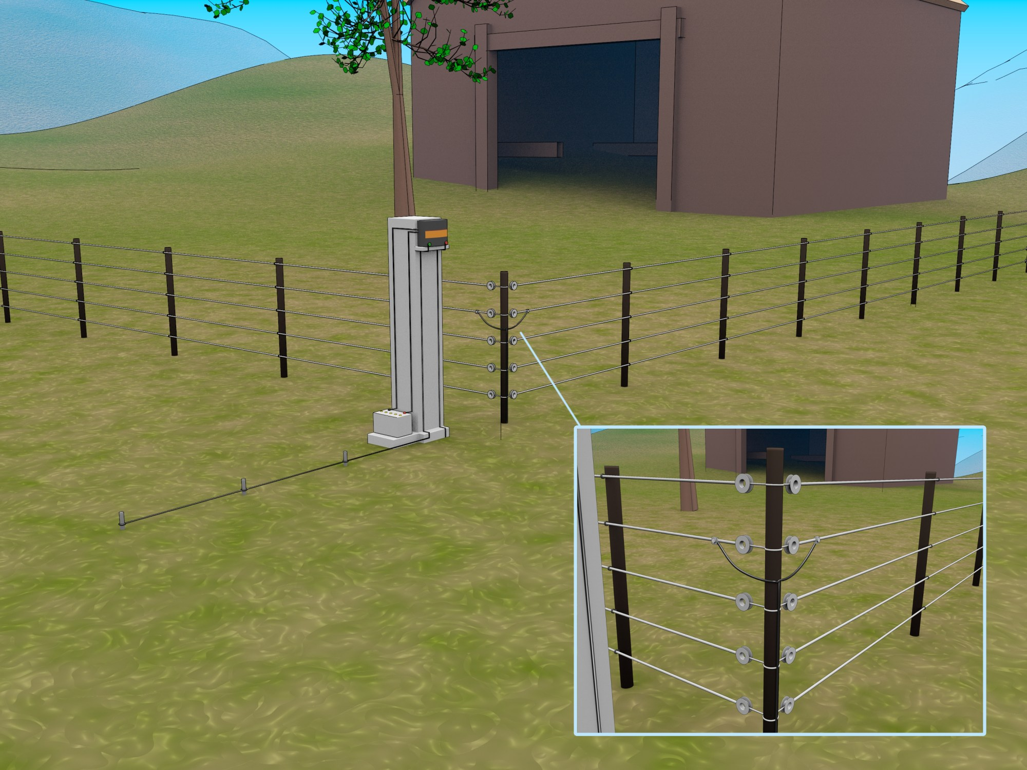 hight resolution of how to make an electric fence