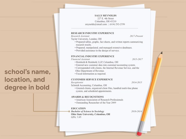 24 Ways to Write Educational Qualifications in a Resume - wikiHow