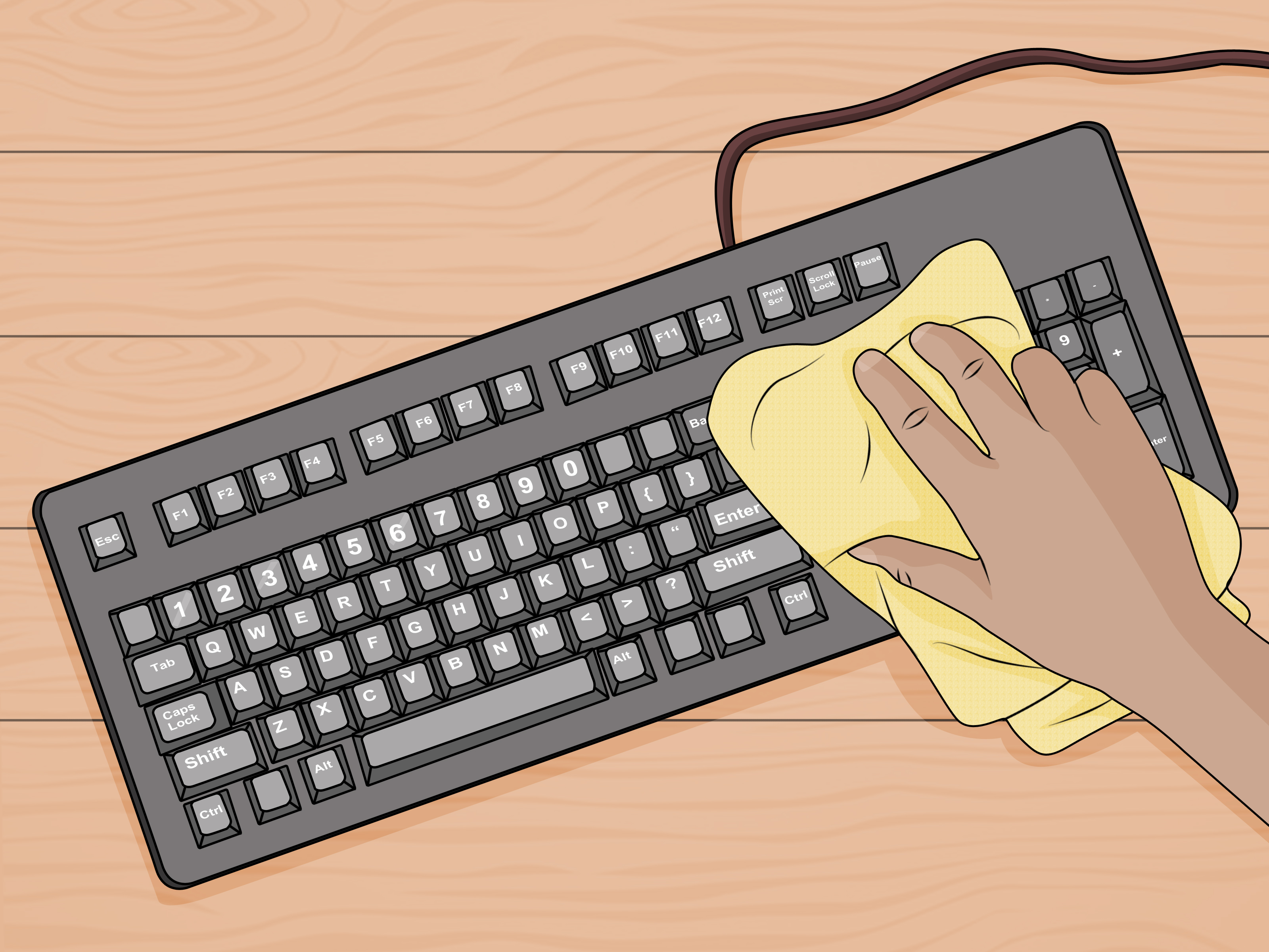 How To Clean A Sticky Keyboard 9 Steps With Pictures