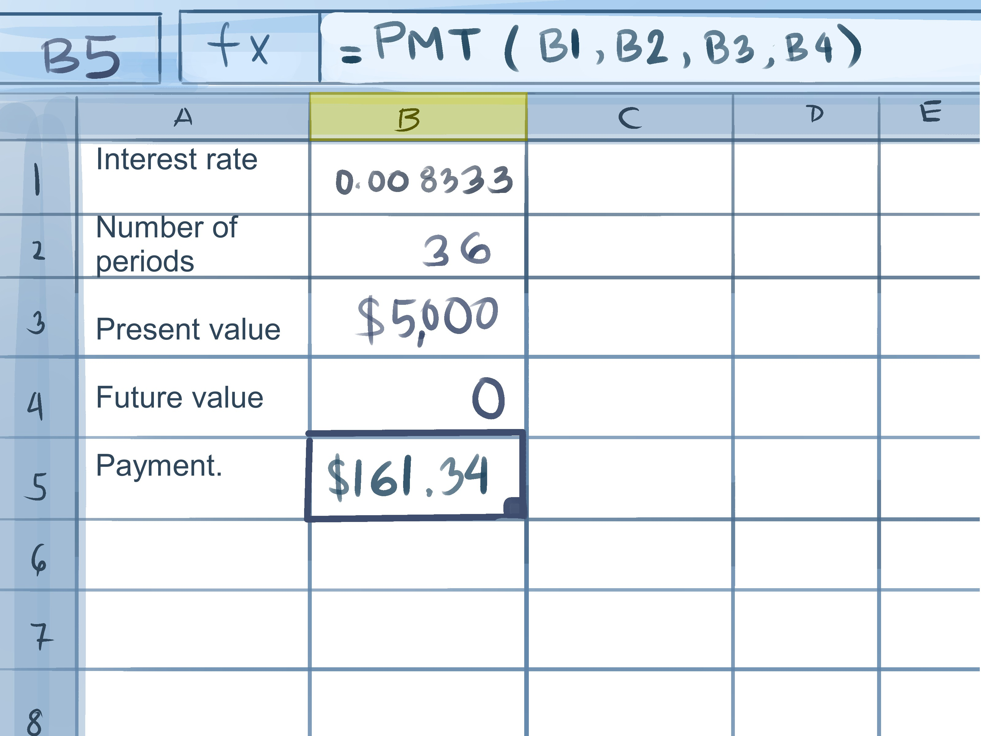 How To Calculate Credit Card Payments In Excel 10 Steps