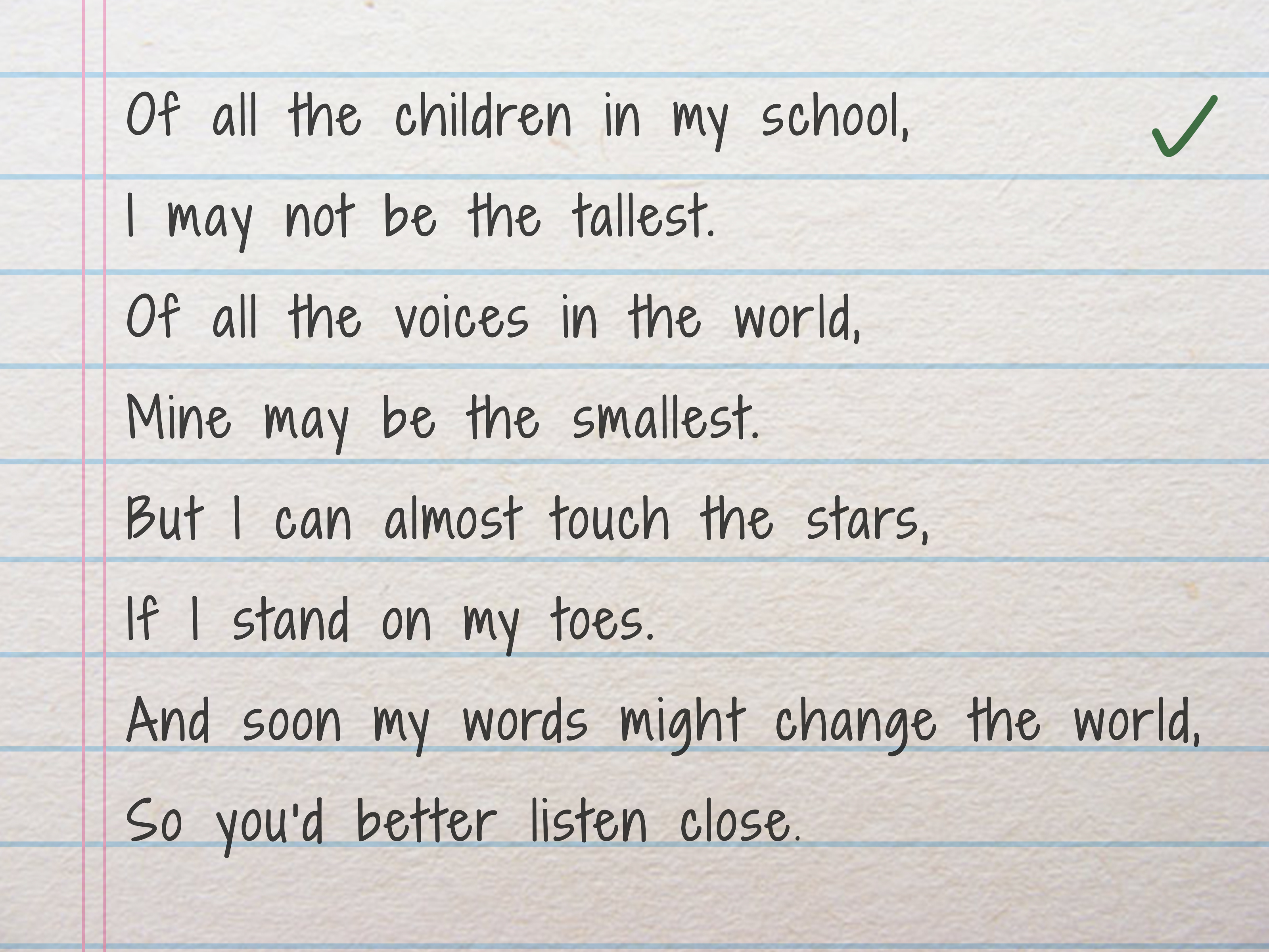 Short A Poem For First Grade