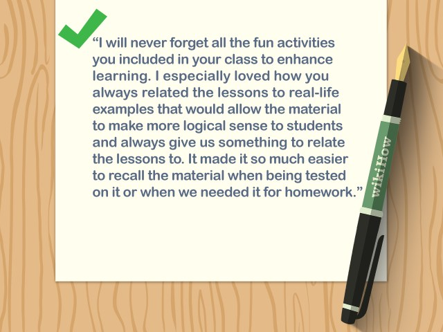 5 Ways to Write a Thank You Note to a Teacher - wikiHow