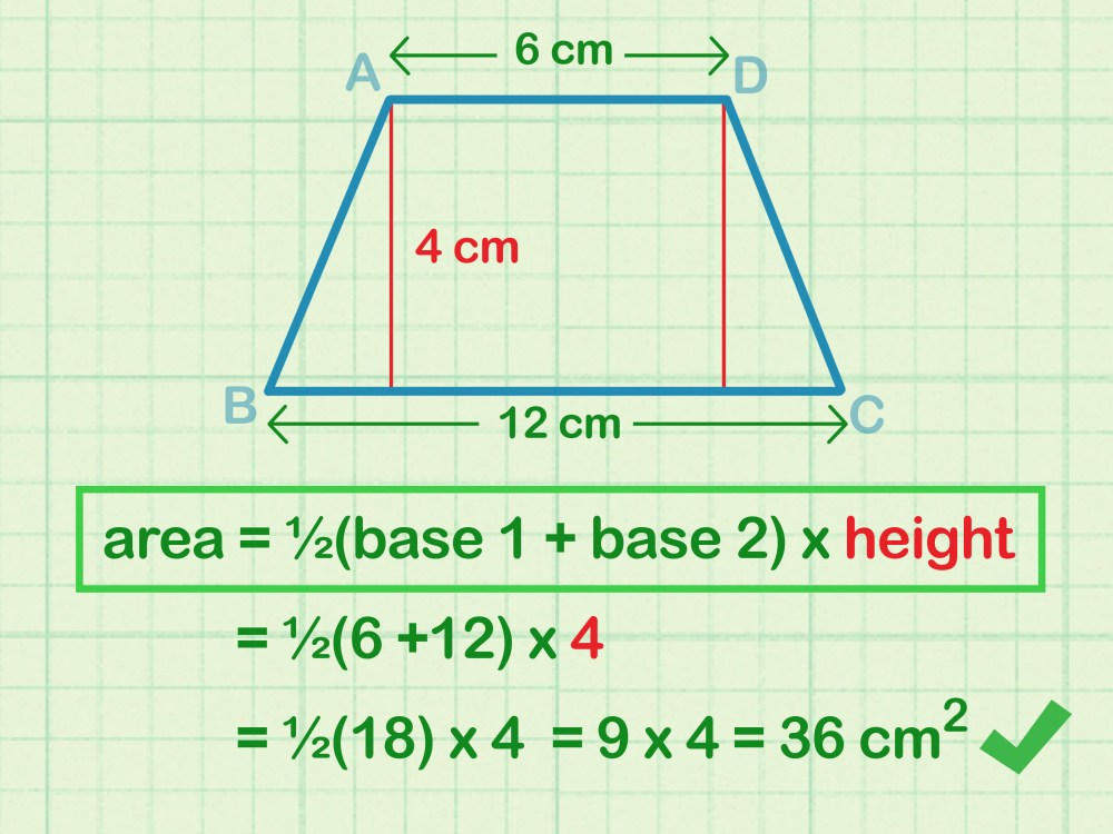 medium resolution of How to Calculate the Area of a Trapezoid: 8 Steps (with Pictures)