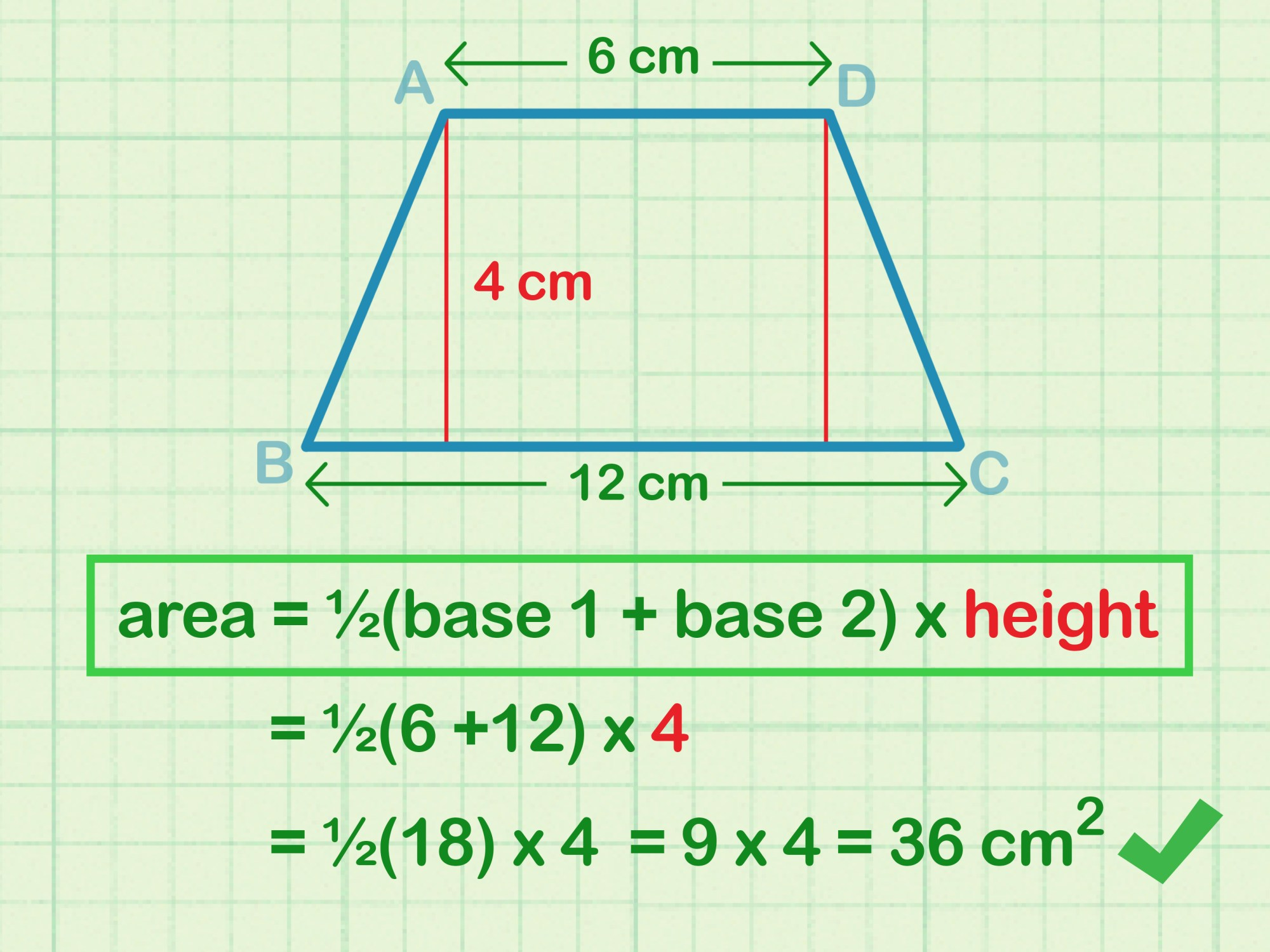 hight resolution of How to Calculate the Area of a Trapezoid: 8 Steps (with Pictures)