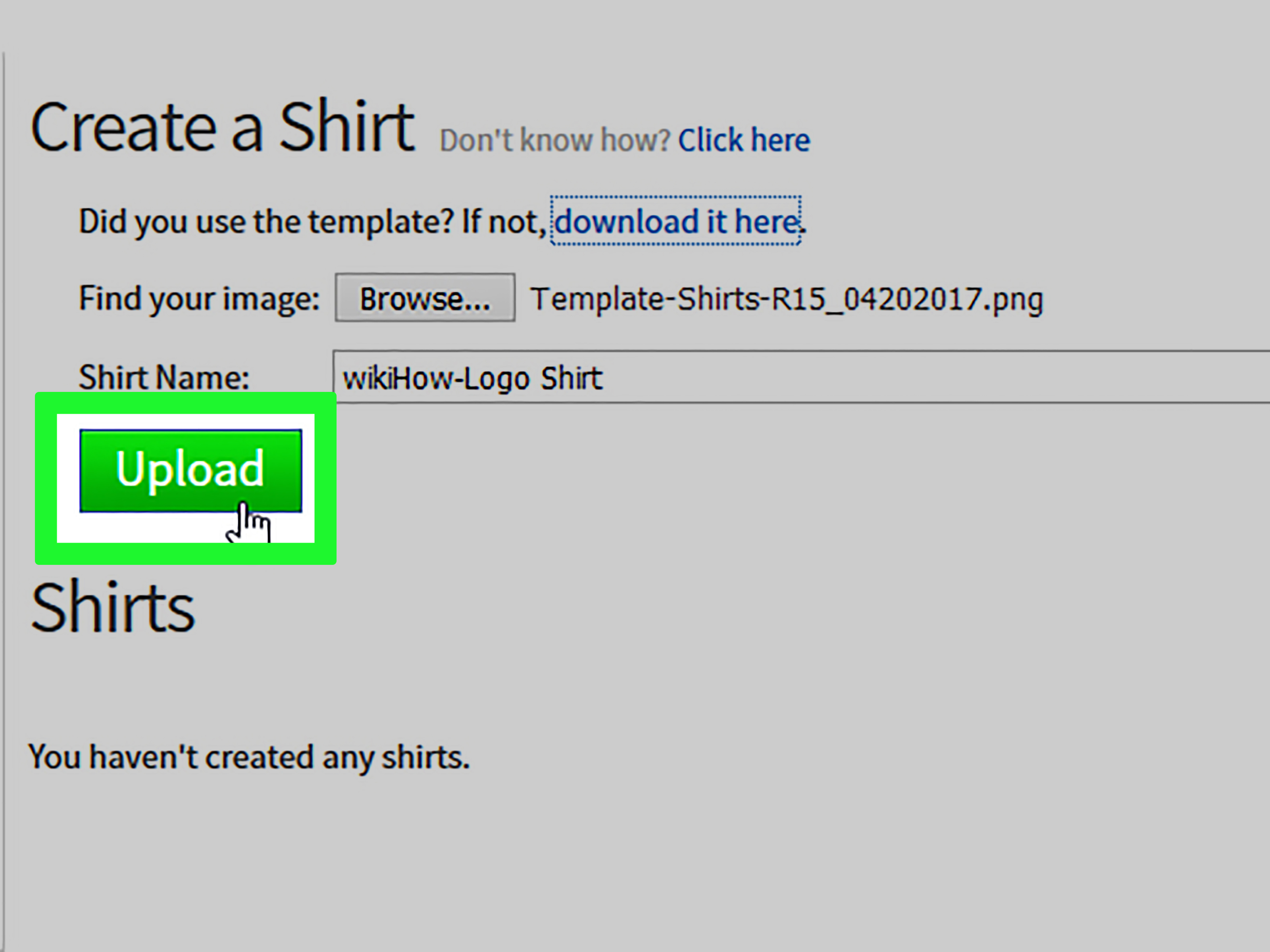 how do you create clothes on roblox