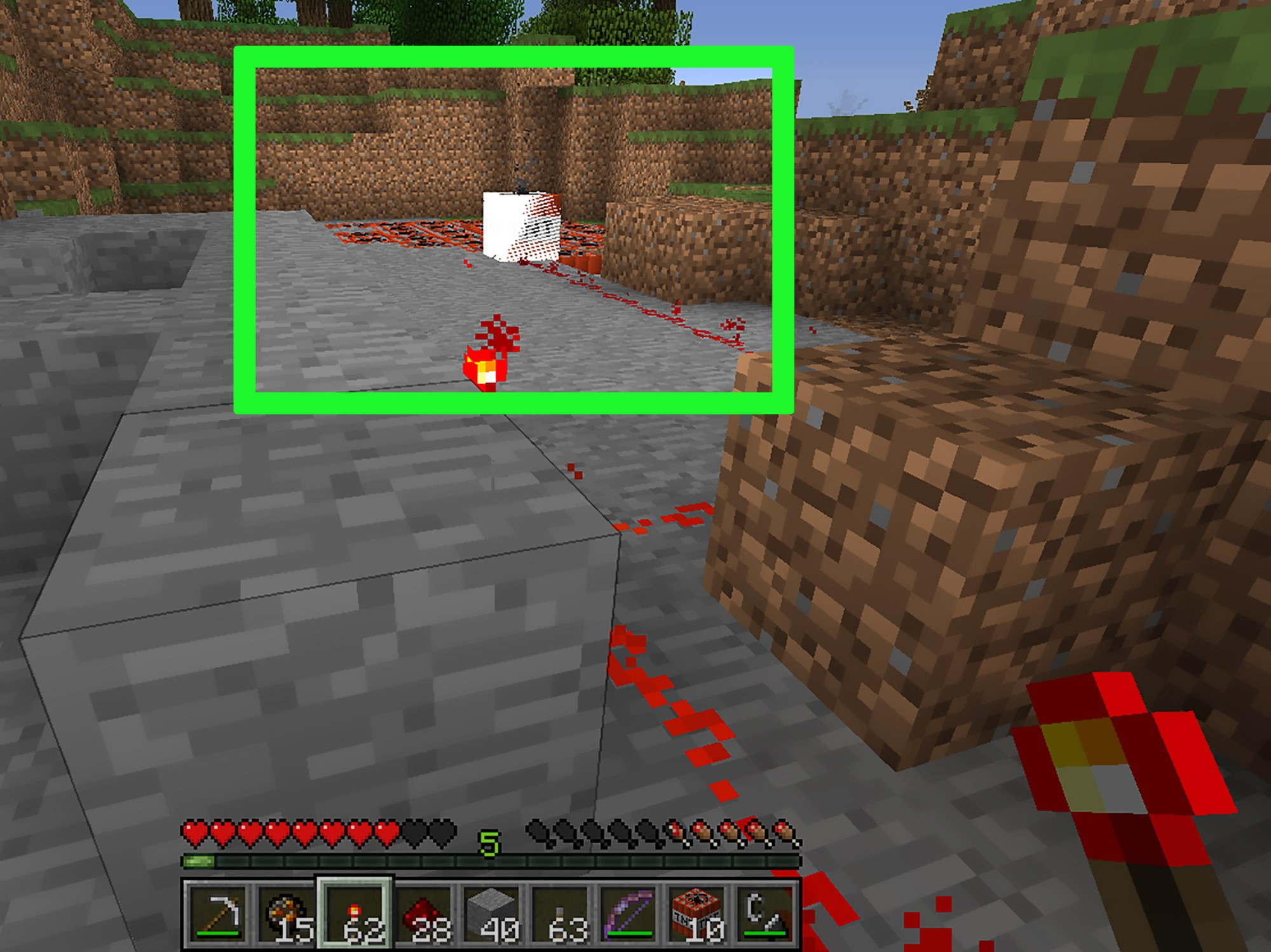hight resolution of how to blow up tnt in minecraft