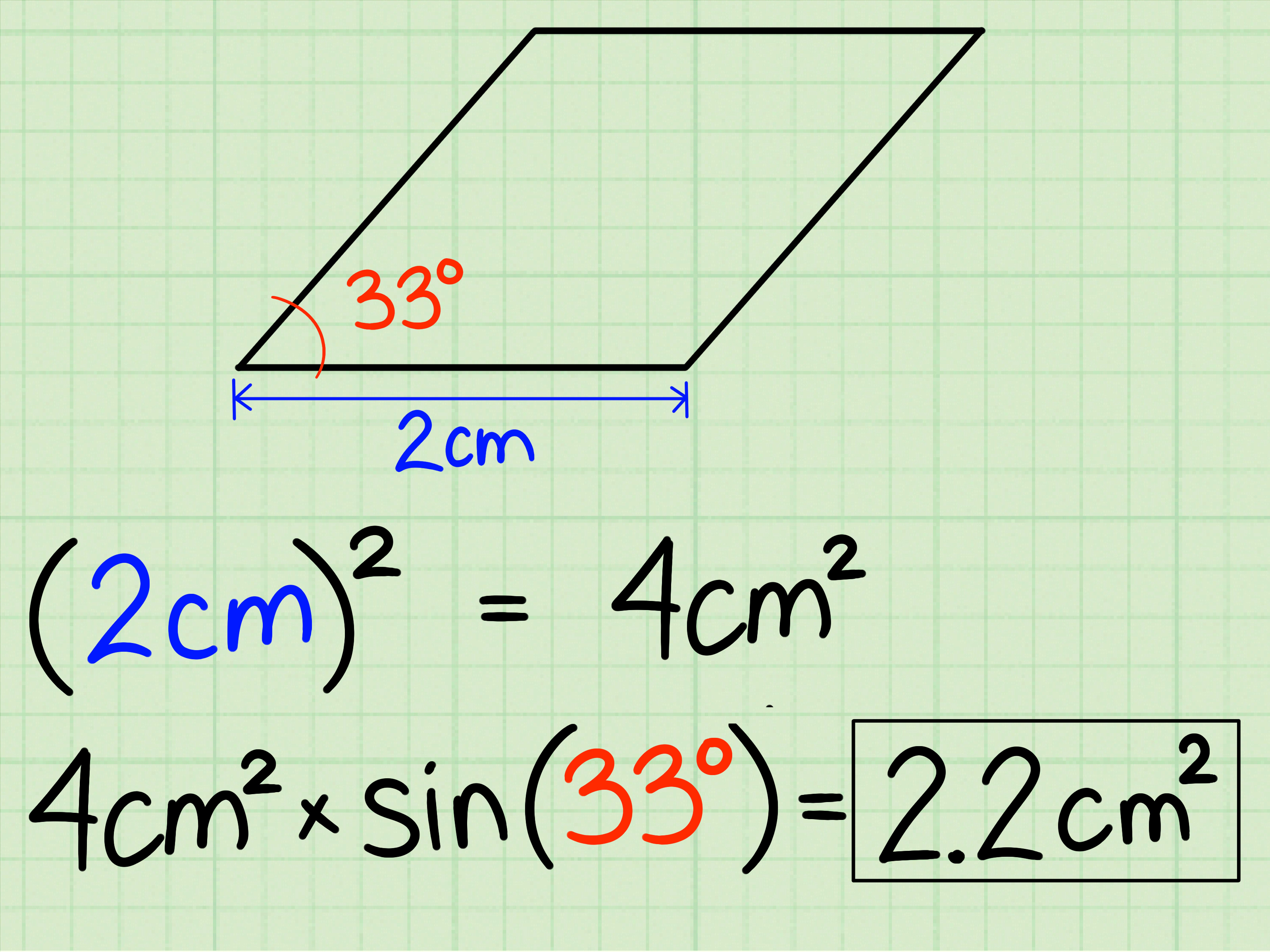 3 Ways To Calculate The Area Of A Rhombus