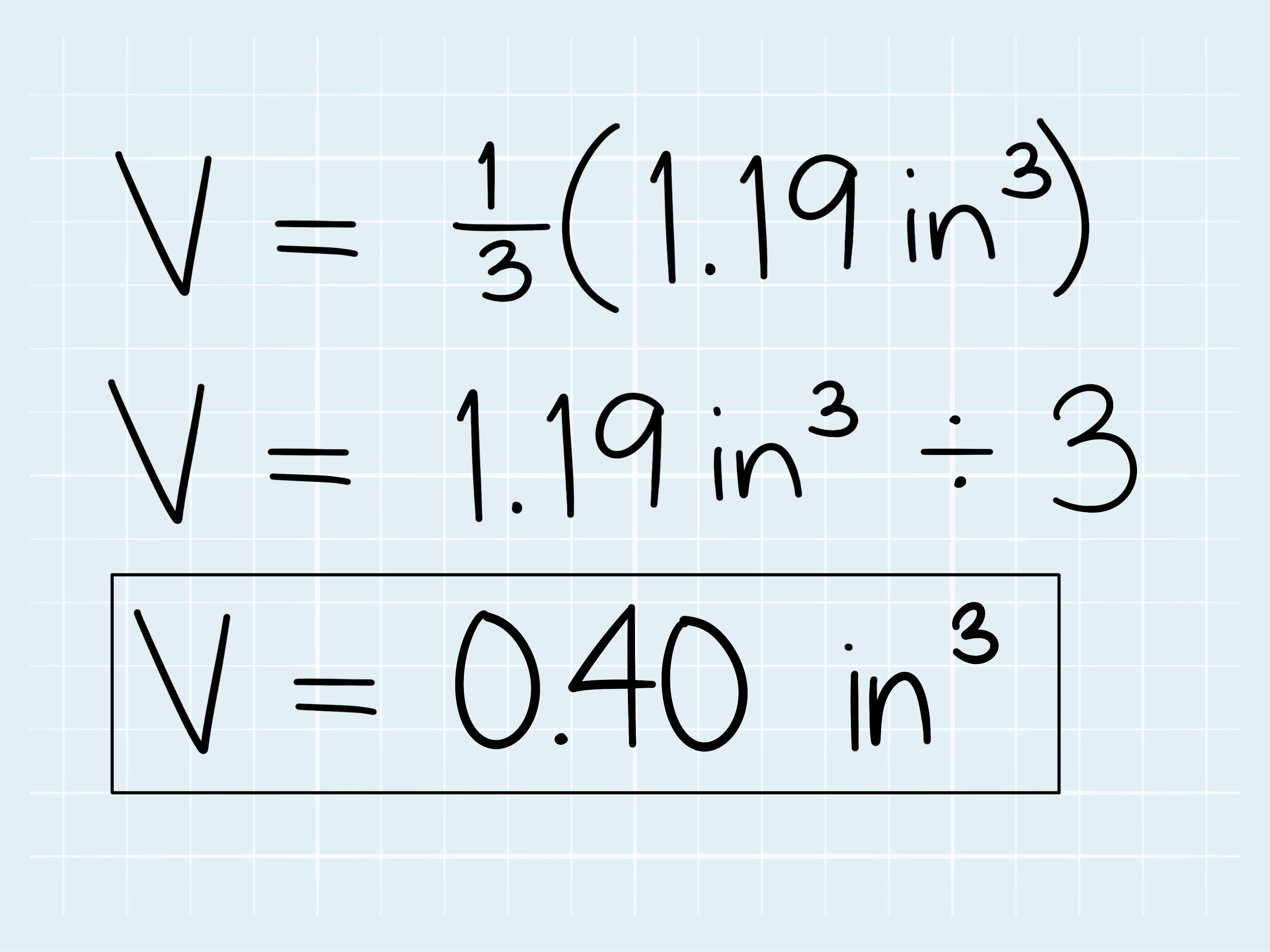 How To Calculate The Volume Of A Cone 5 Steps With Pictures