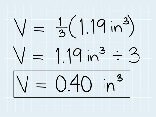 small resolution of How to Calculate the Volume of a Cone: 5 Steps (with Pictures)