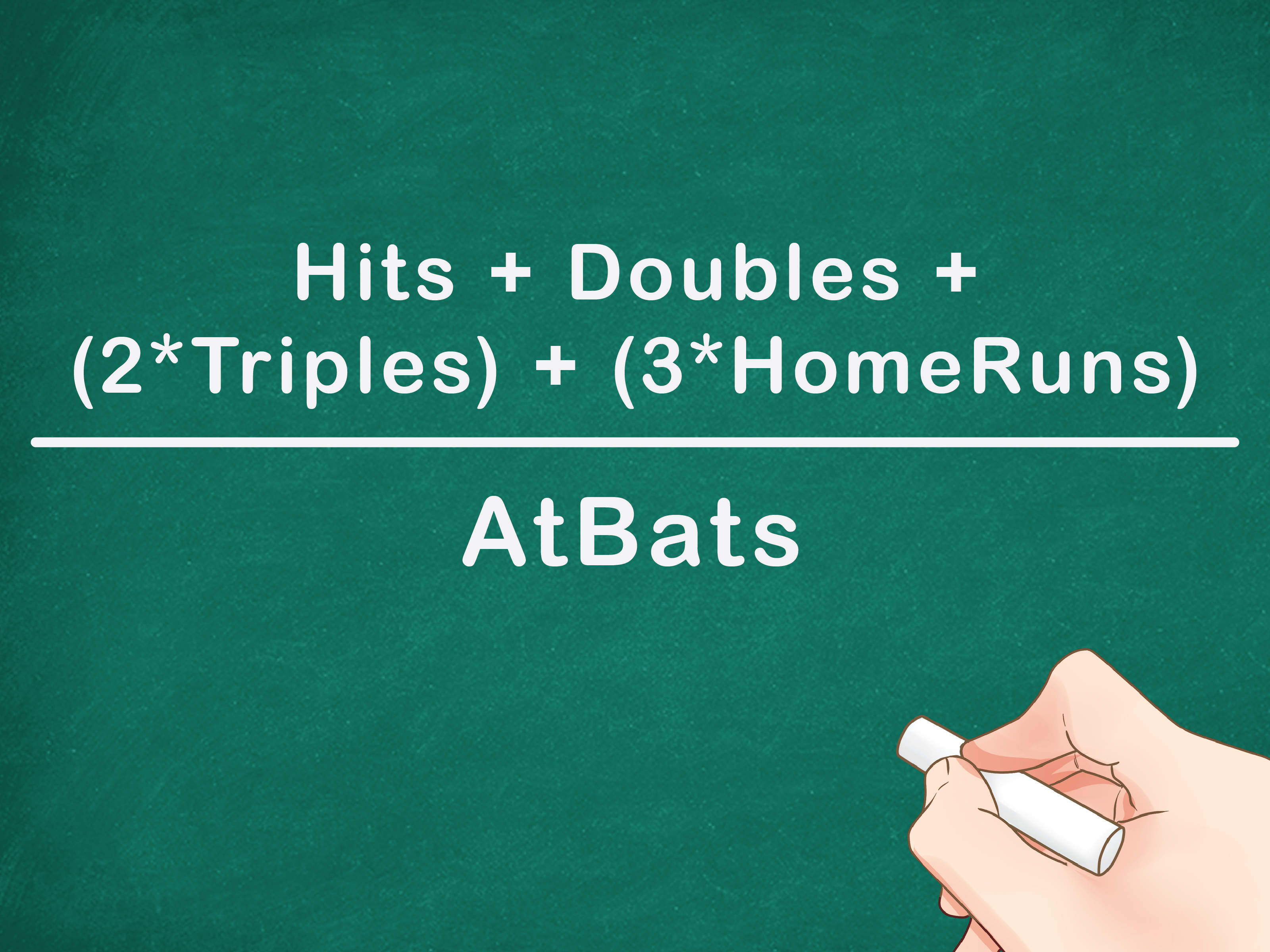 How to Calculate a Batting Average 7 Steps with Pictures