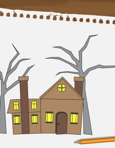 also how to draw  haunted house steps with pictures wikihow rh
