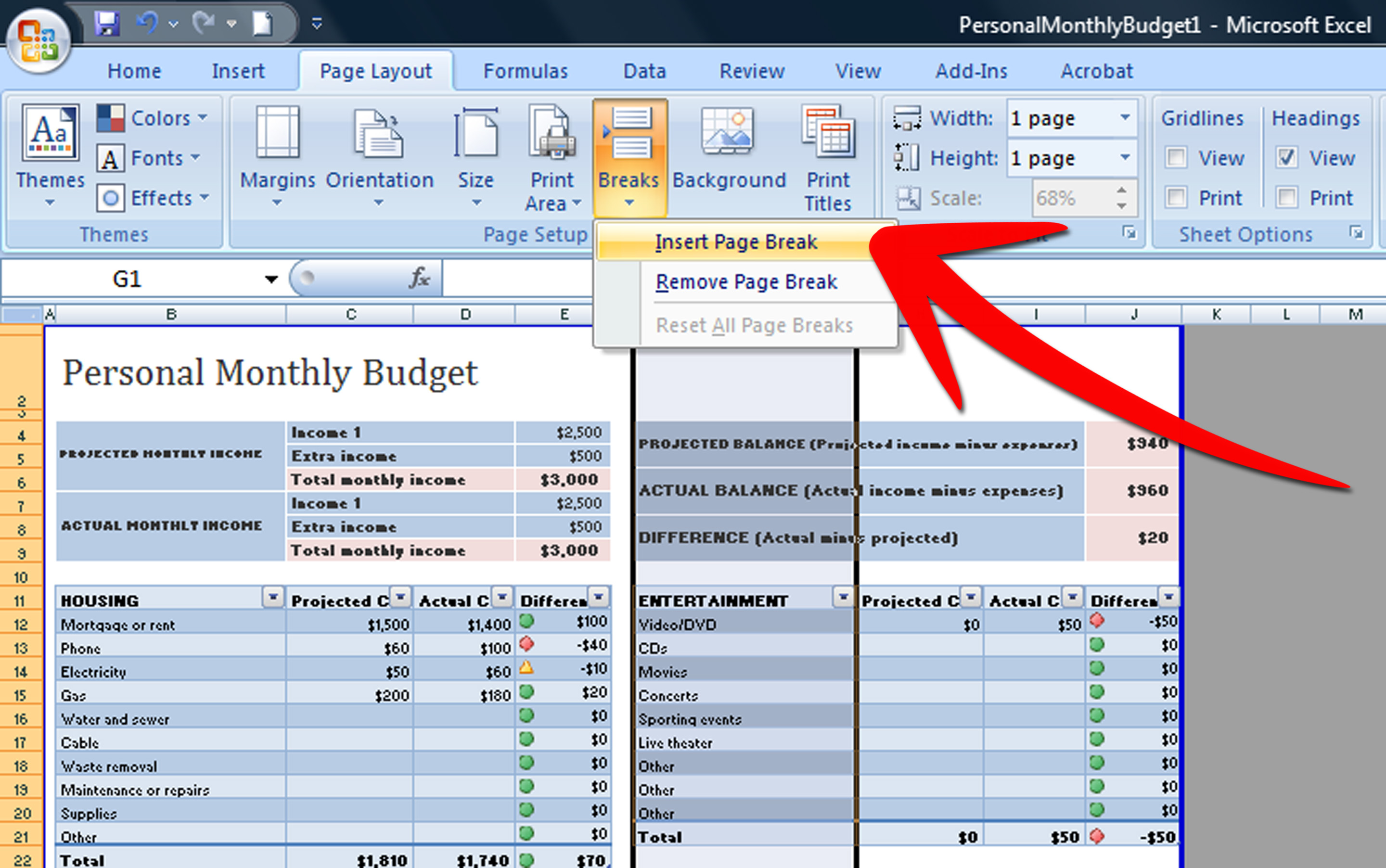 Insert New Worksheet Excel