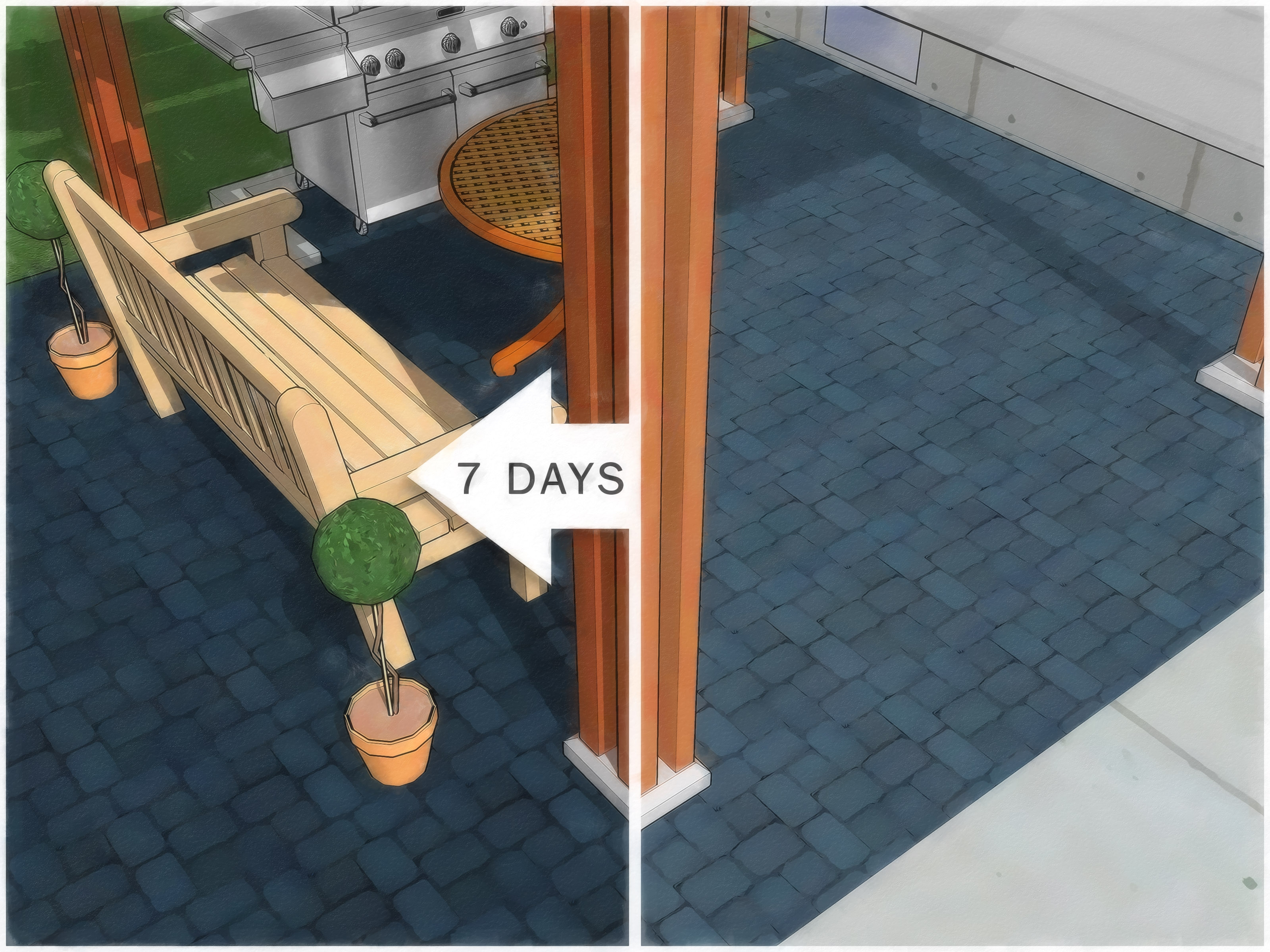How To Paint An Outdoor Concrete Patio With Pictures | Painting Outside Concrete Steps