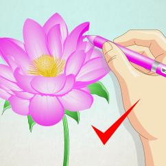 Lotus In Water Plant Diagram 12 Pin Caravan Plug Wiring Agnitum How To Draw A Flower 7 Steps With Pictures Wikihow
