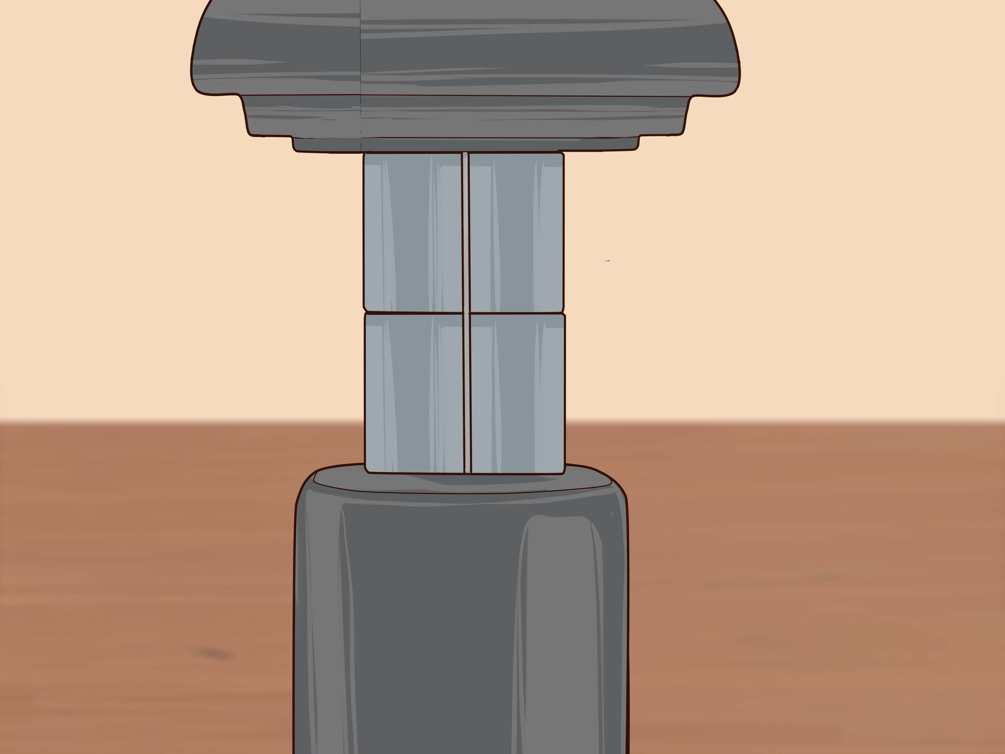 desk chair piston red pads 2 easy ways to fix a sinking wikihow how