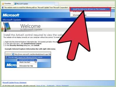 internet explorer activex controls