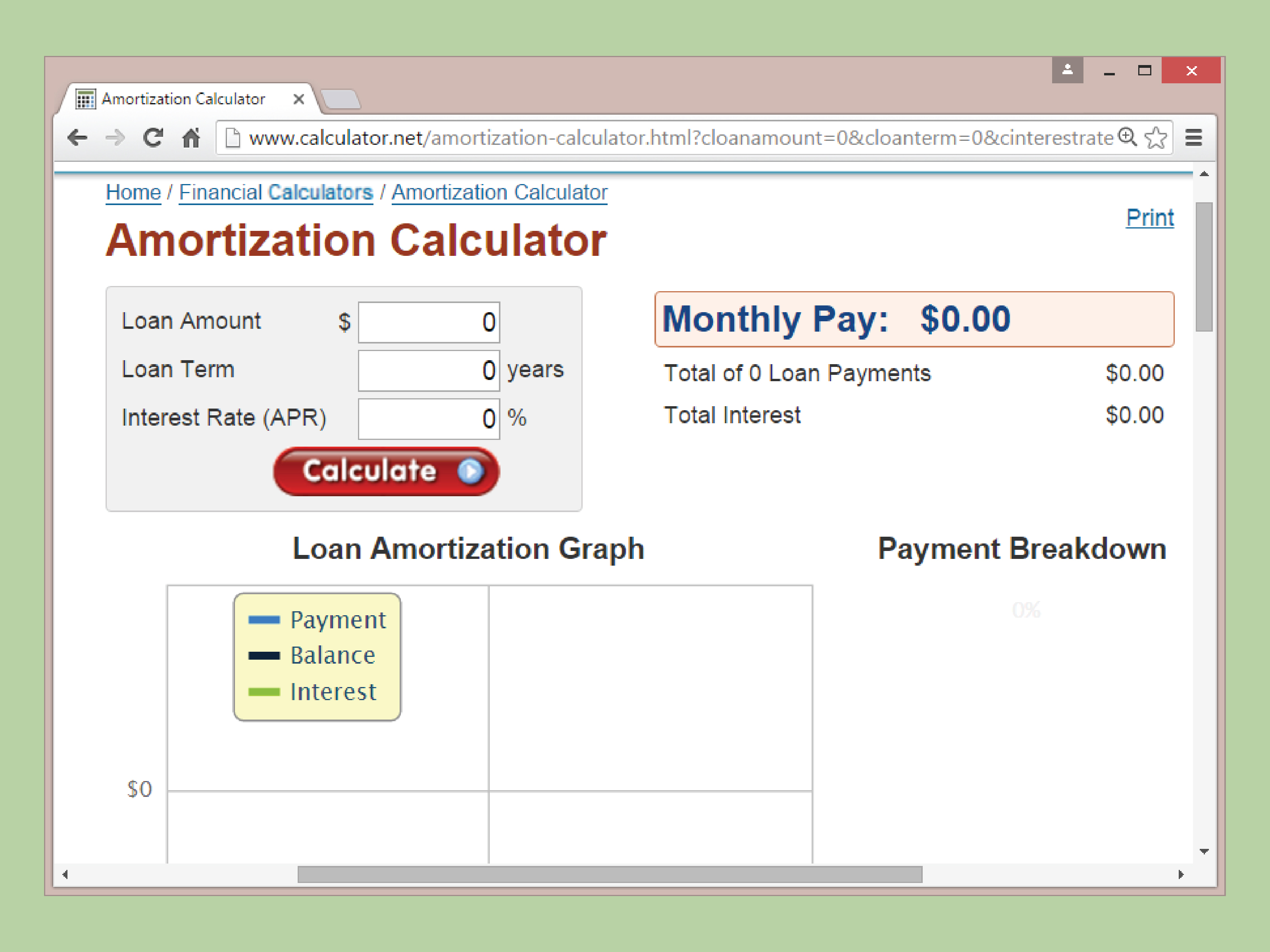 amortization car loan schedule calculator
