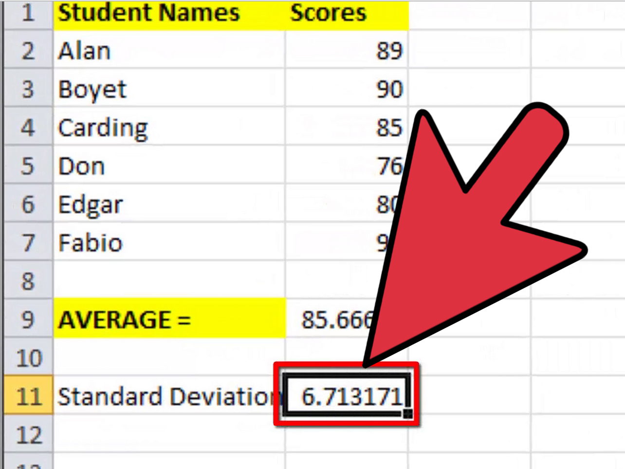 How To Calculate Mean And Standard Deviation With Excel