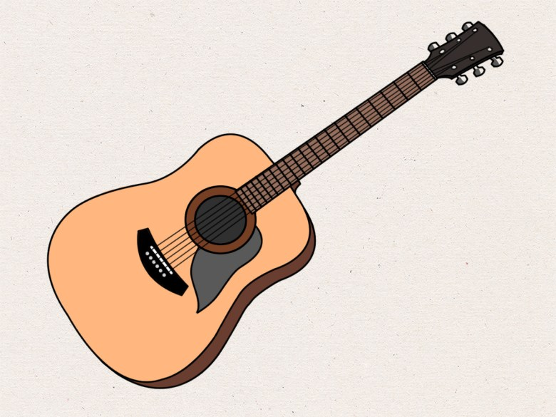 how to draw an acoustic guitar: 15 steps (with pictures) - wikihow